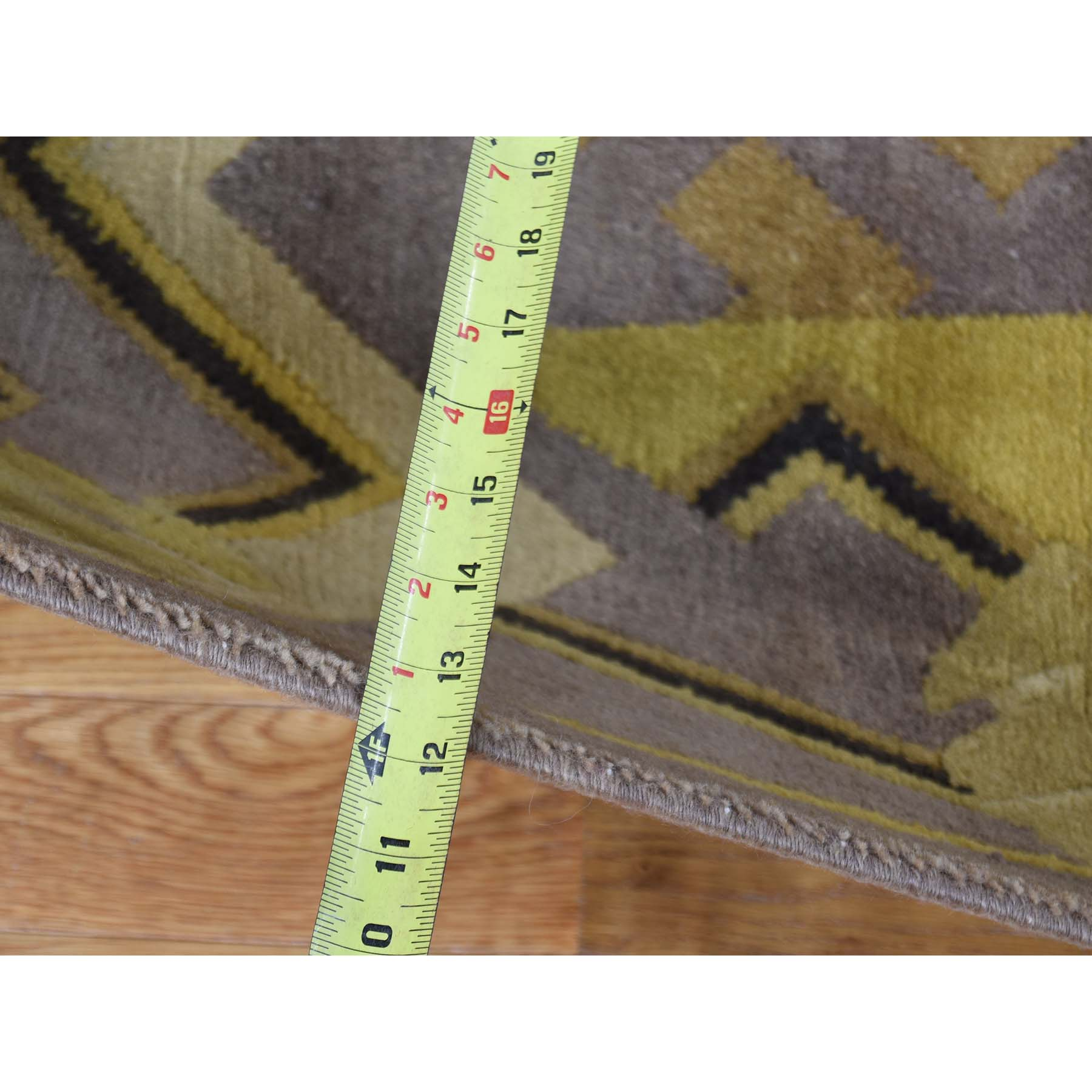 7-8--x9-7-- Hand Knotted Pure Wool Gold Tibetan Oriental Rug