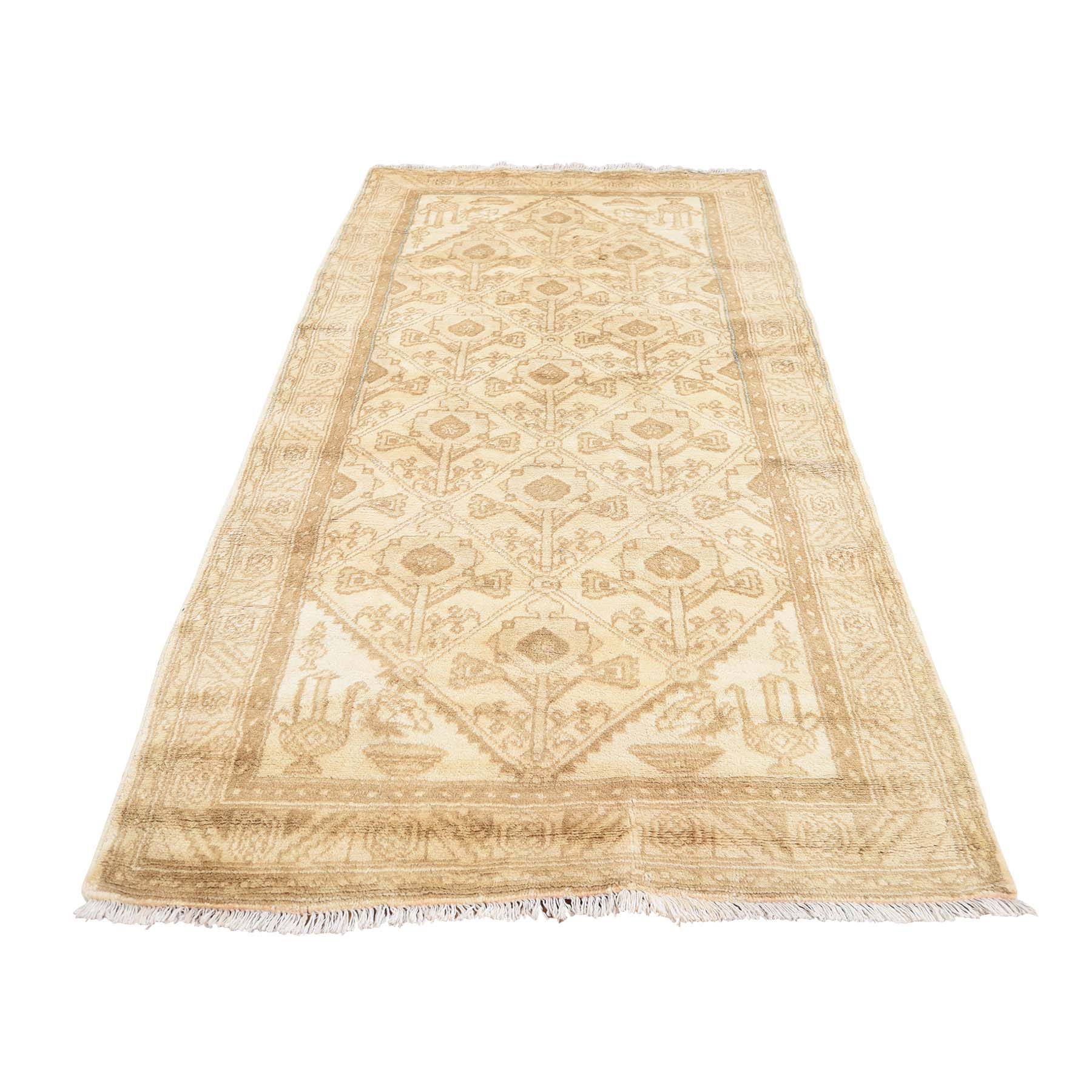 3'1''X5'9'' Hand Knotted Turkish Village With Thick Pile Oriental Runner Rug moac888e