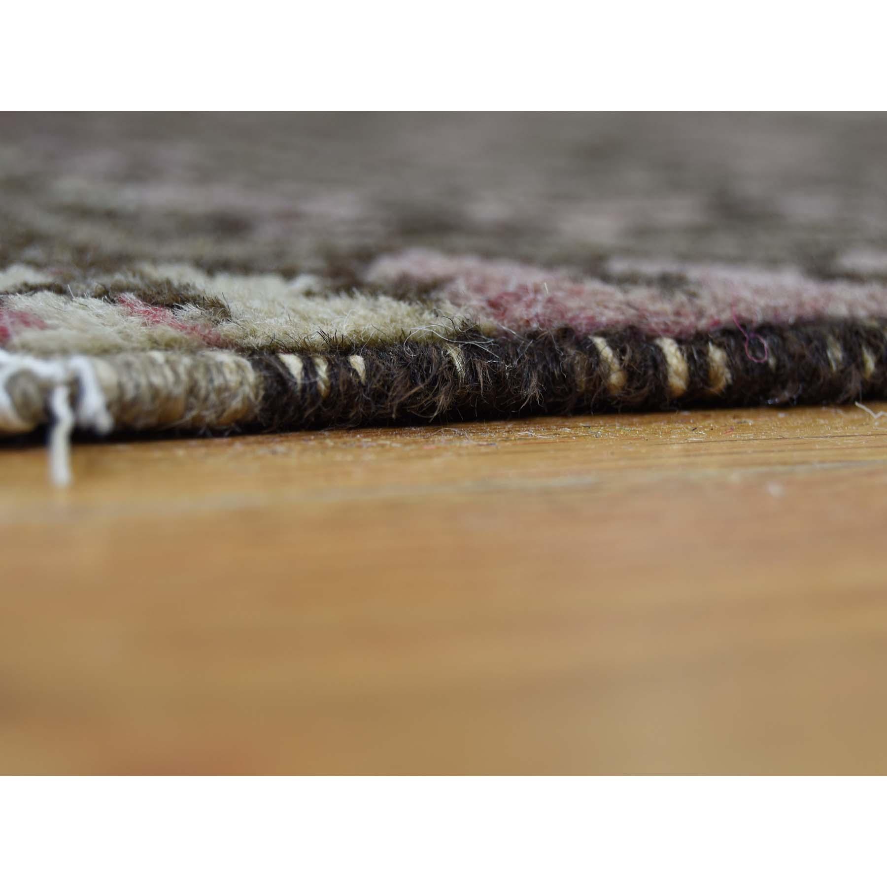 7-5--x9-8-- Vintage Afghan Elephant Feet Design Abrash Hand-Knotted Rug