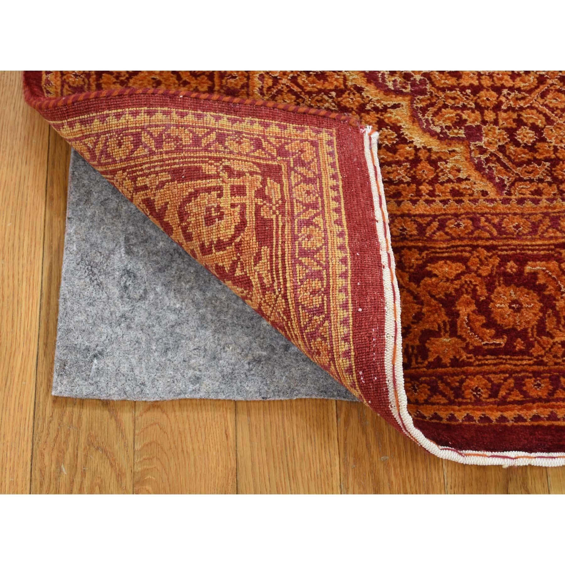 5-x7- Wool and Silk Tone on Tone Tabriz Mahi Hand Knotted Oriental Rug