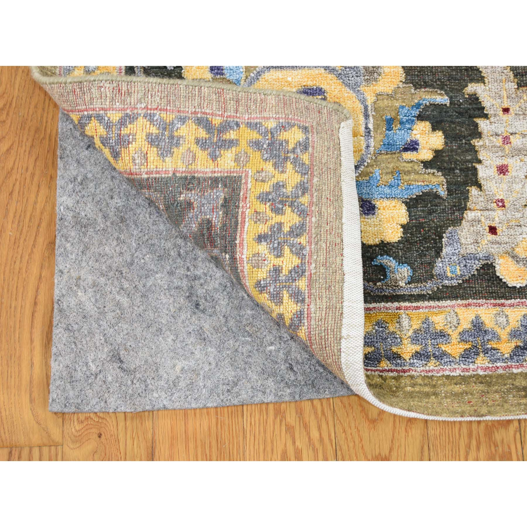 10-x14- Hand Knotted Arts And Crafts Design Silk with Oxidized Wool Oriental Rug