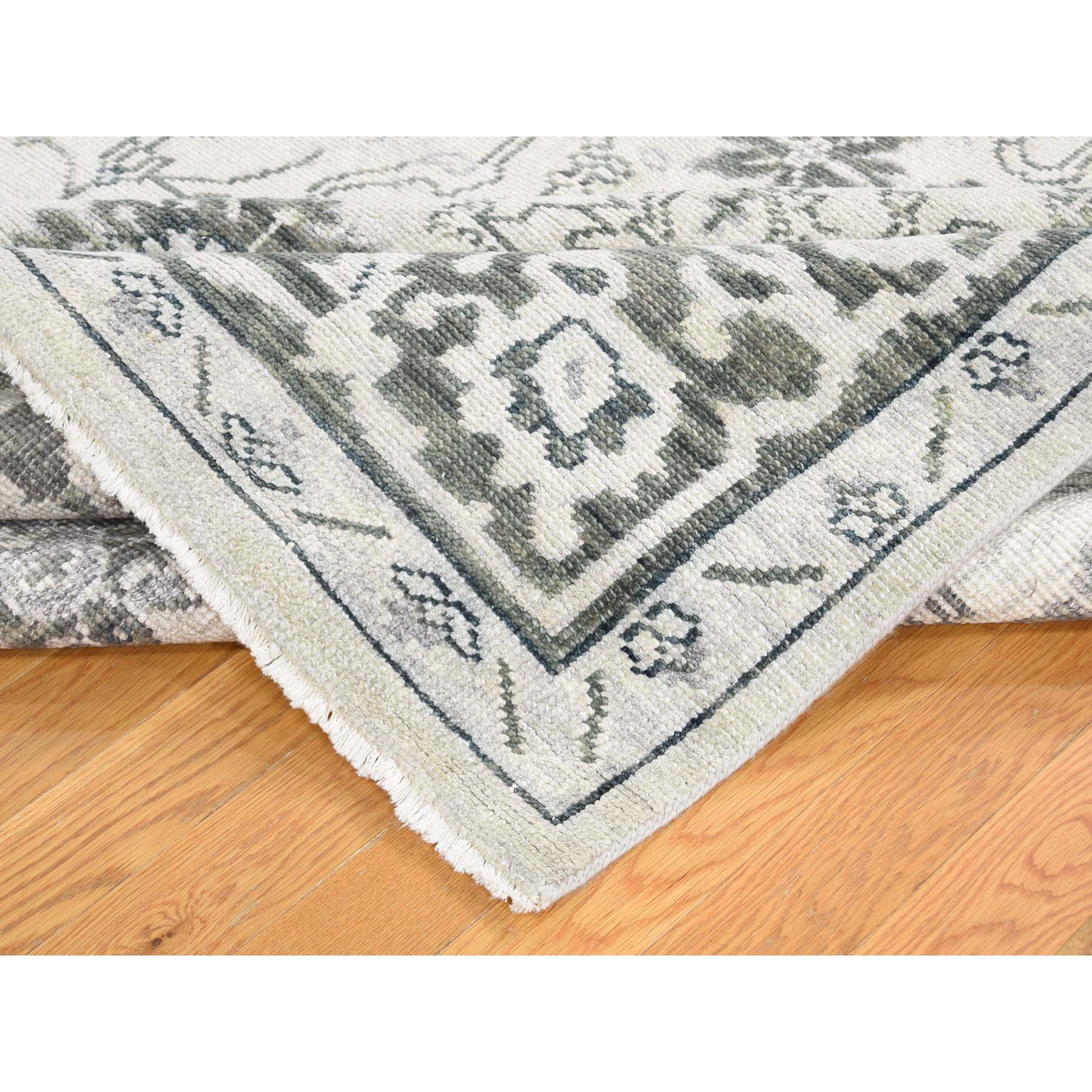 8-x10- Hand-Knotted Turkish Knot Oushak Pure Wool Oriental Rug