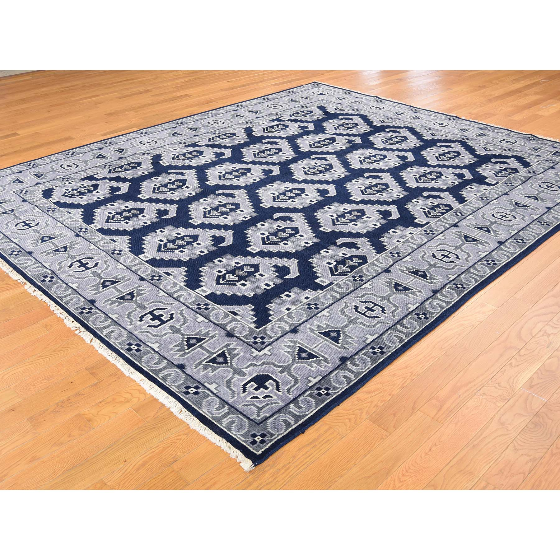 8-1--x9-10-- Hand-Knotted Turkish Knot Boteh Design Pure Wool Rug