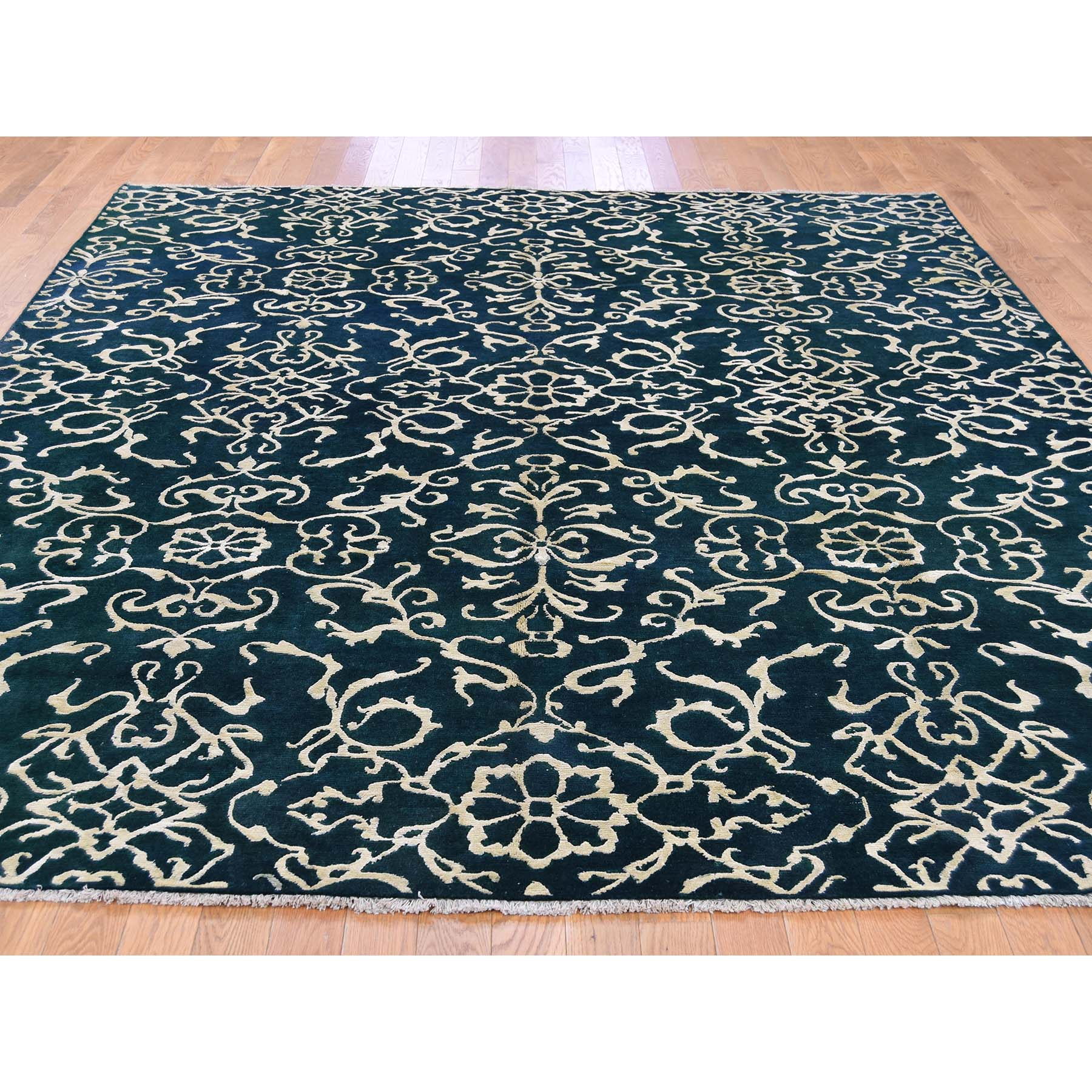 7-7--x9-4-- Wool and Silk Modern Nepali Hand Knotted Oriental Rug