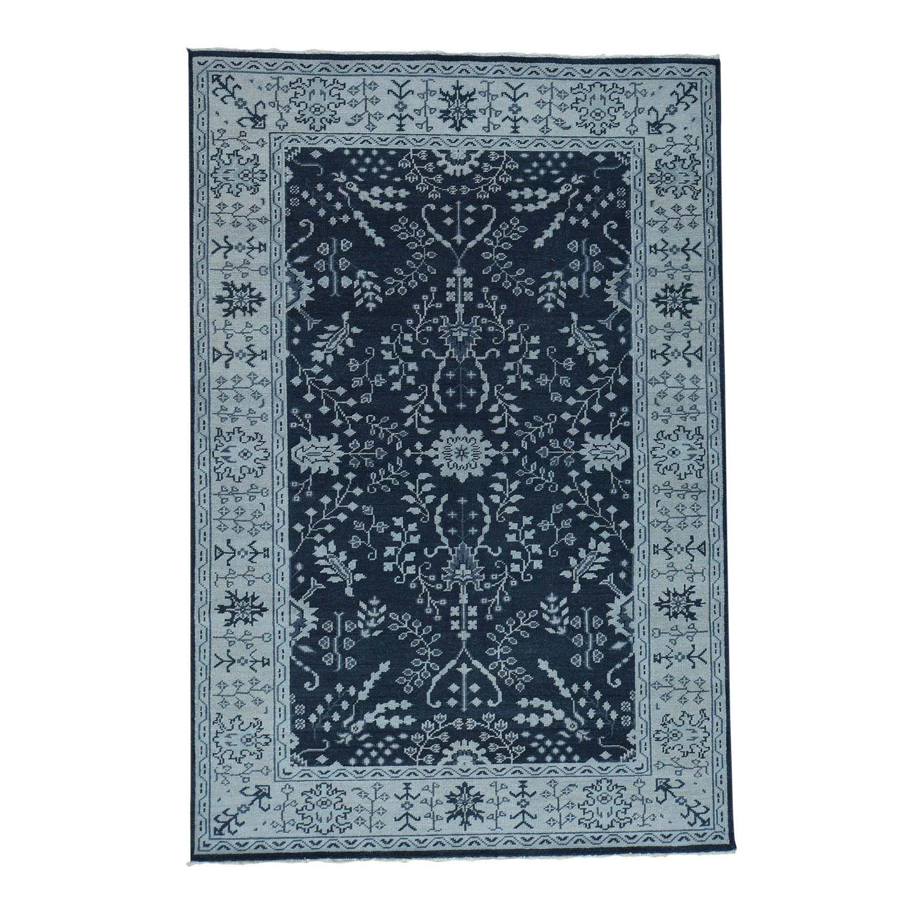 6'1''x9' Turkish Knot Oushak Sarouk Design Hand-Knotted Oriental Rug