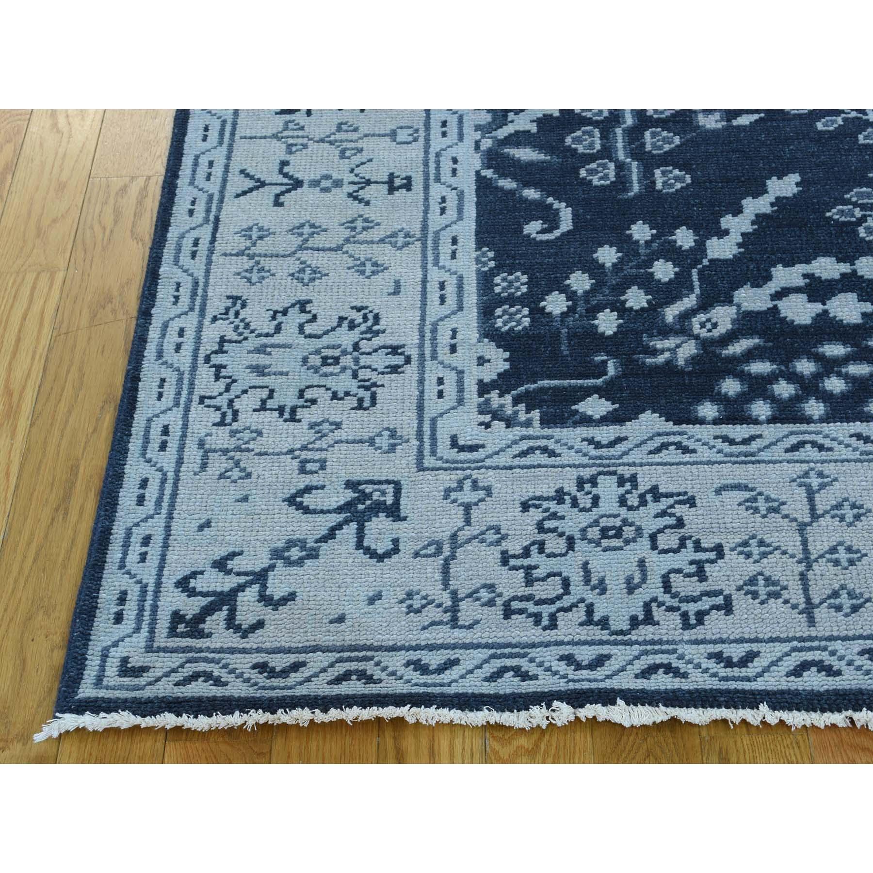 6'1''x9' Turkish Knot Oushak Sarouk Design Hand-Knotted Oriental Rug