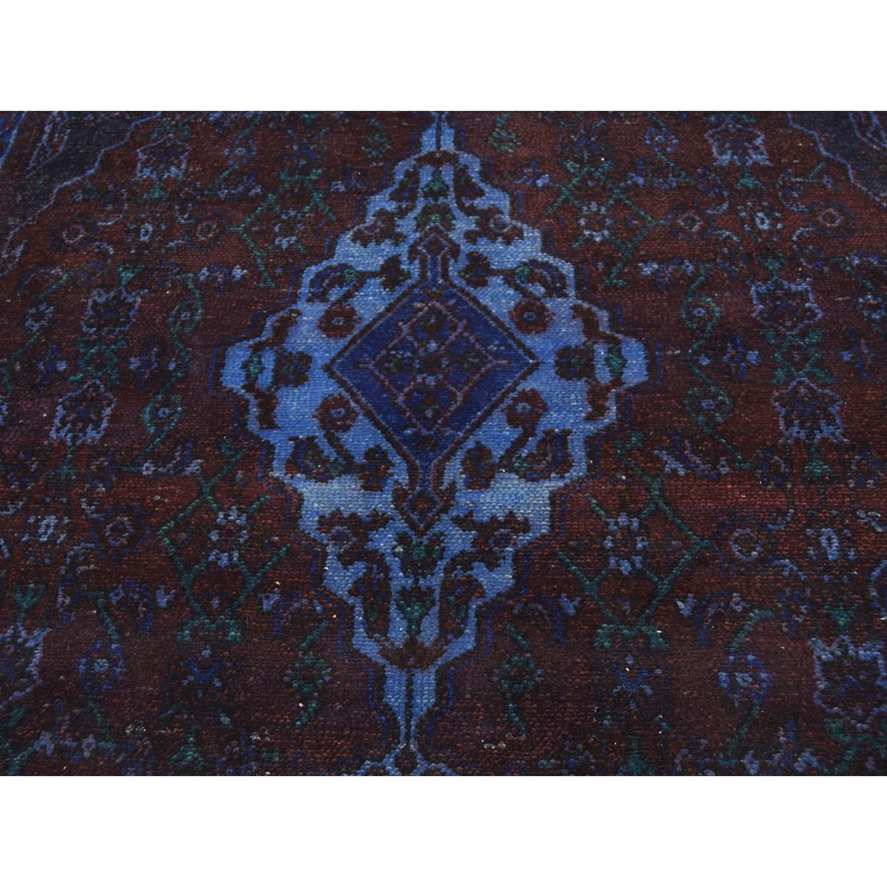 6-10--x10- Vintage Overdyed Persian Bibikabad Hand-Knotted Oriental Rug