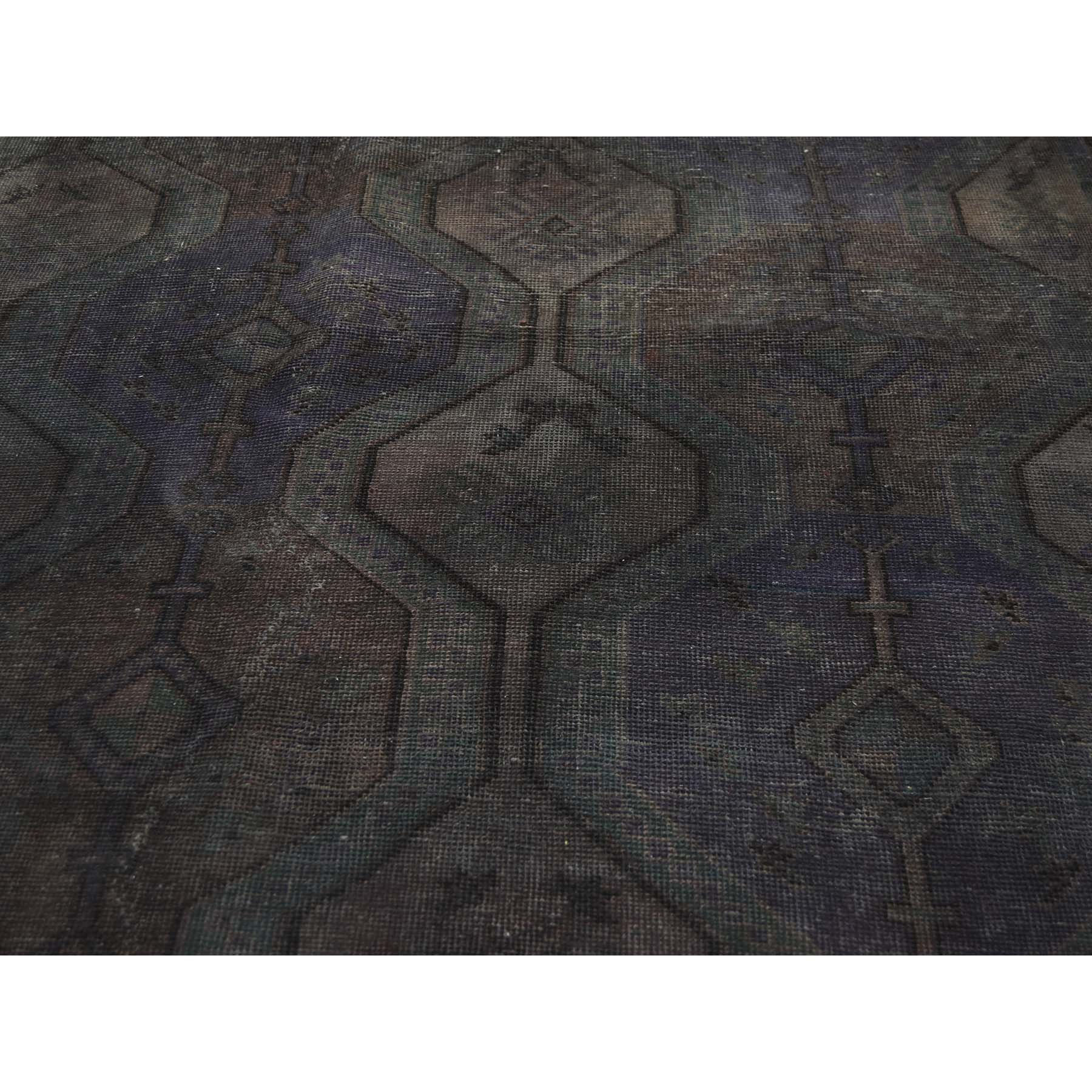 6-10--x9-8-- Hand Knotted Vintage Overdyed Persian Shiraz Oriental Rug