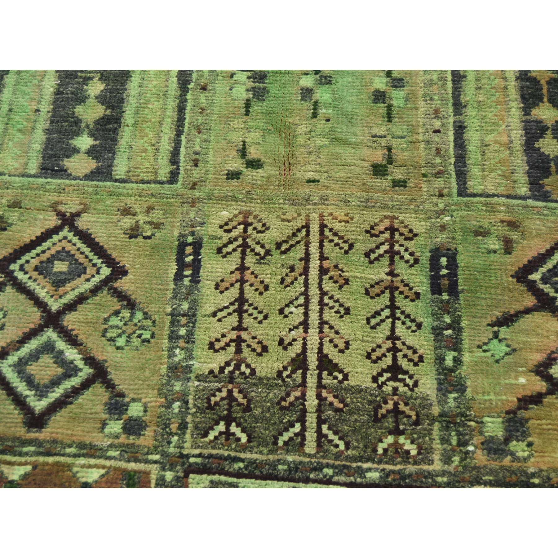 6-1 x8-8  Hand Knotted Vintage Overdyed Persian Bakhtiari Garden Design Rug