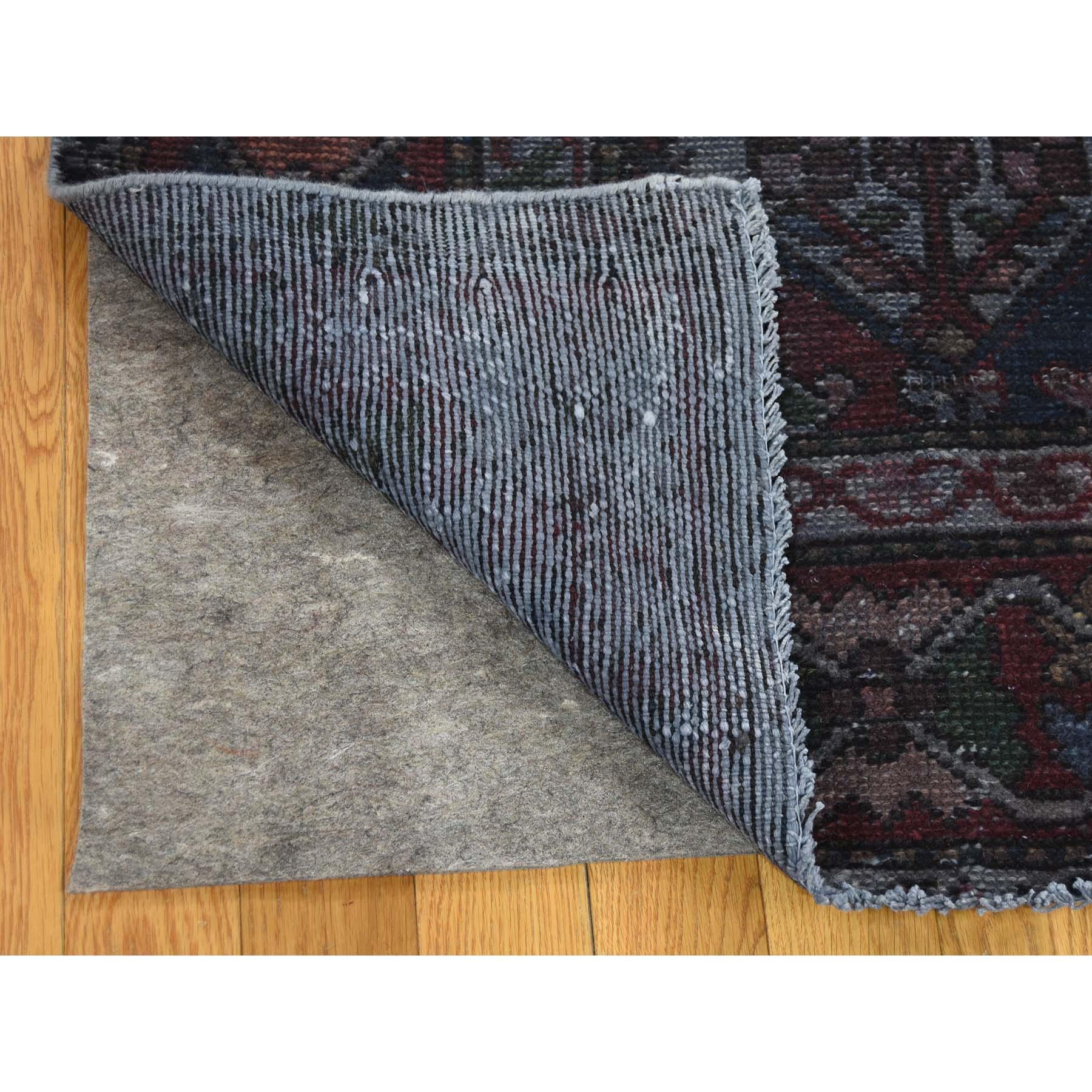 7-3 x9-5  Hand Knotted Vintage Overdyed Persian Bakhtiari Garden Design Rug