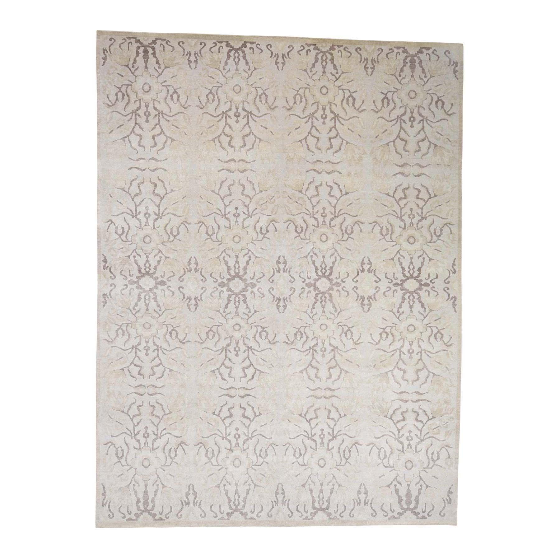9'X12' Hand Knotted Pure Wool Nepali Tone On Tone Tibetan Oriental Rug moac9c7d