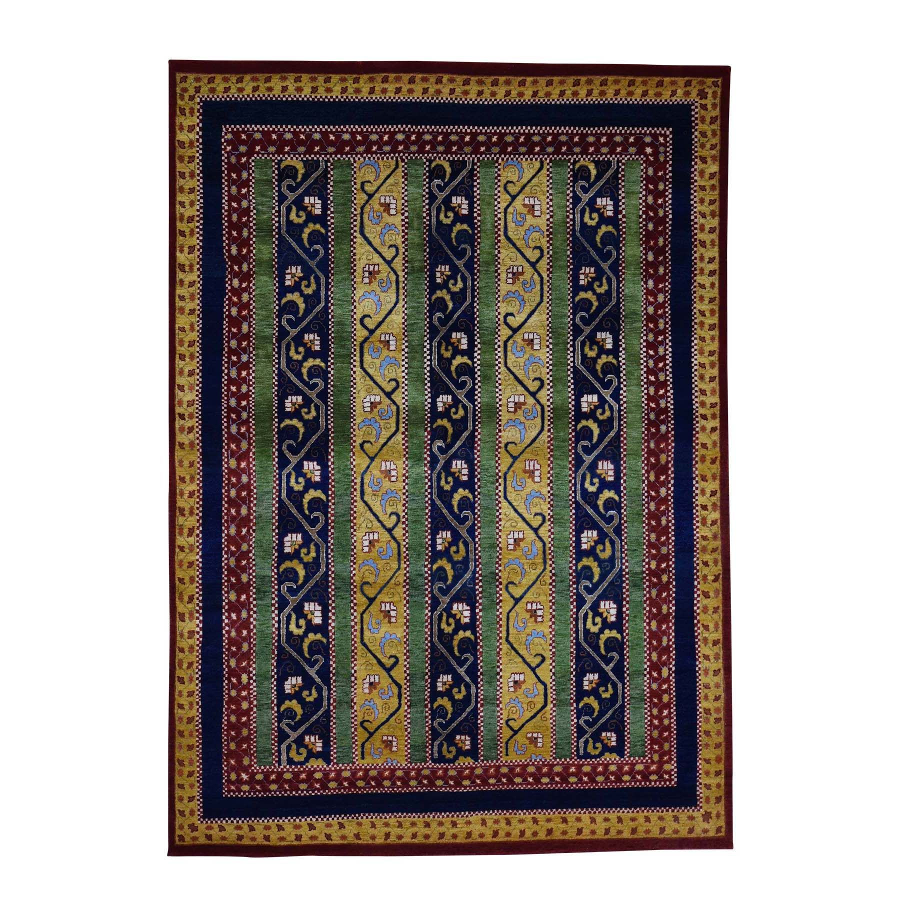 """5'5""""X7'7"""" Hand Knotted 100 Percent Wool Shawl Design Oriental Rug moac9d07"""