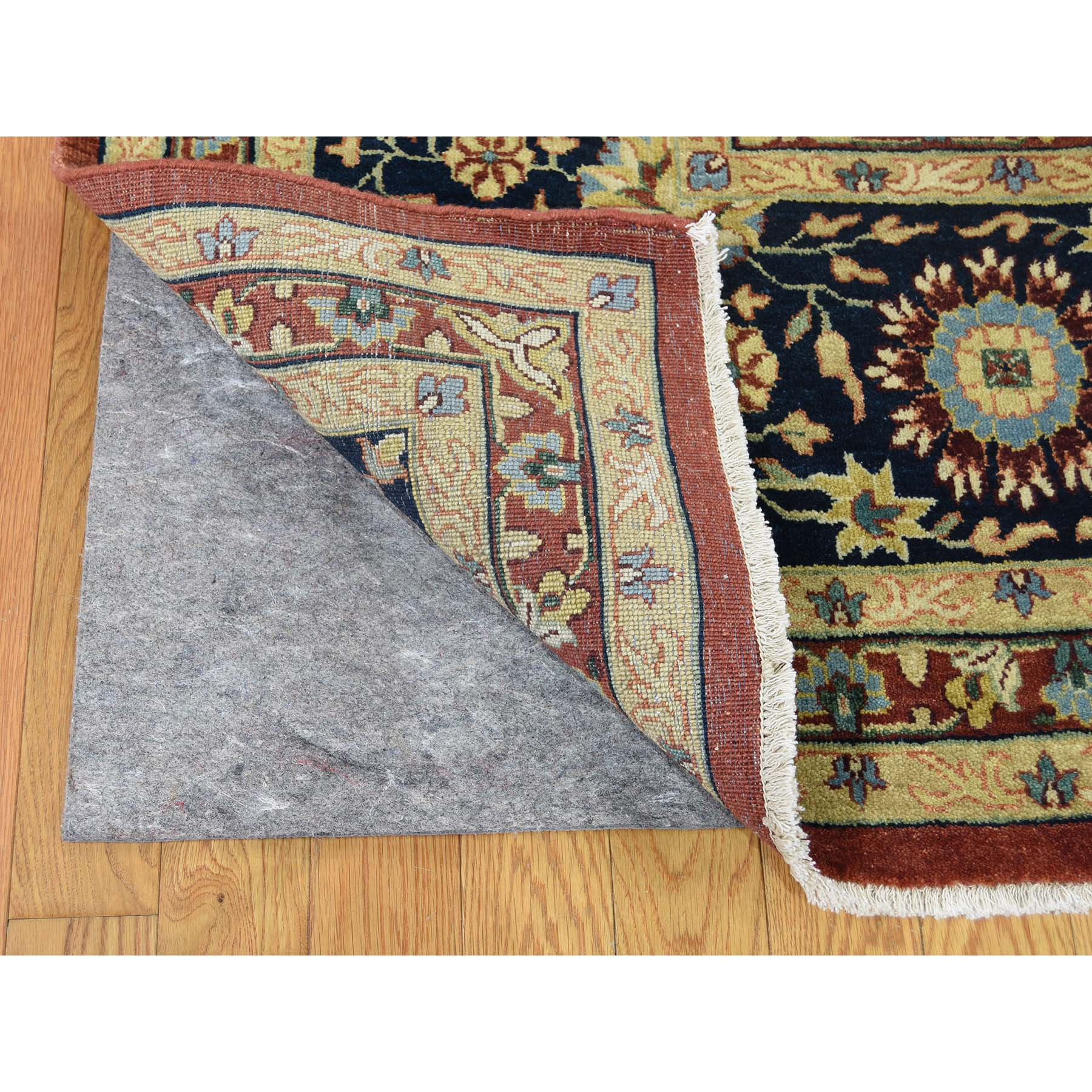 10-x14- Kashan Revival 100 Percent Wool Hand-Knotted Oriental Rug