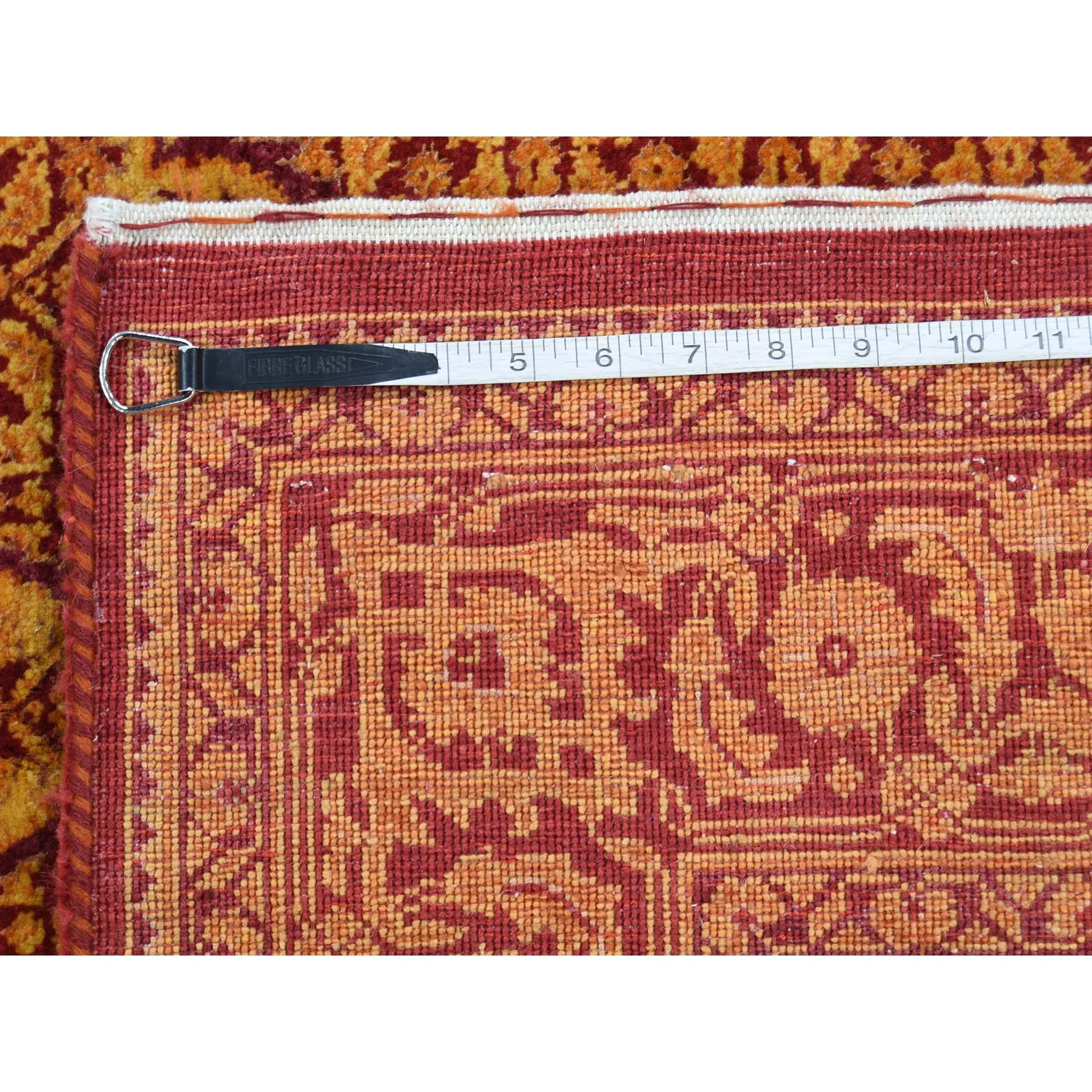 5-x6-9  Tone on Tone Tabriz Mahi Wool and Silk Hand Knotted Oriental Rug