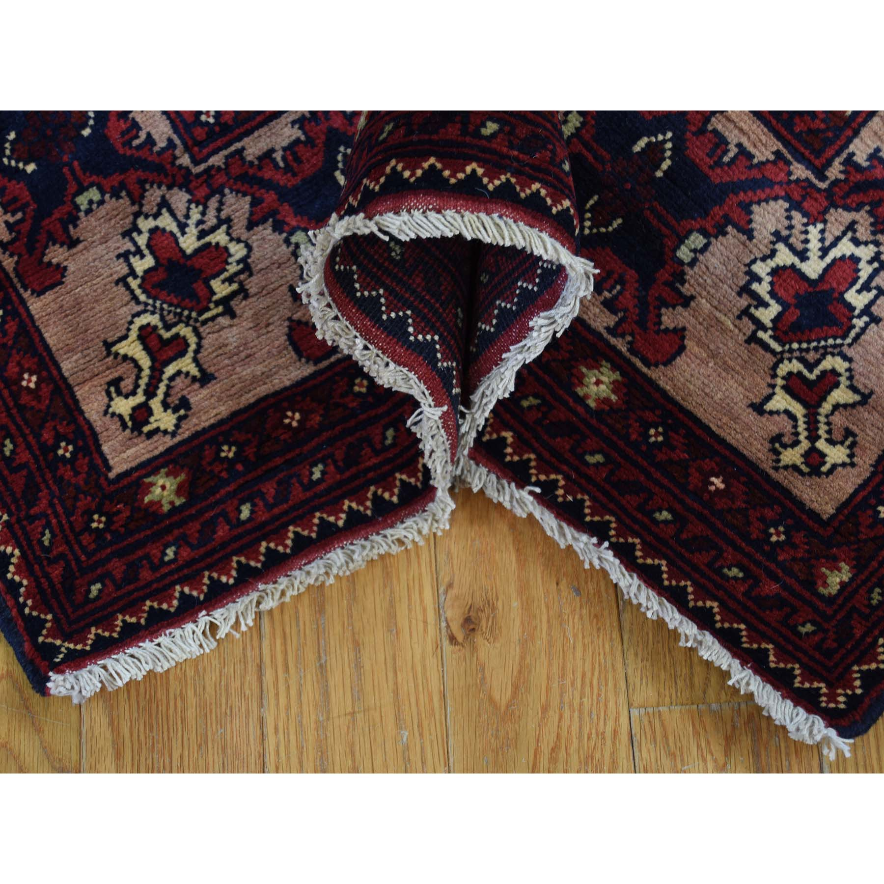 3-x19- 100 Percent Wool Hand Knotted Afghan XL Runner Oriental Rug