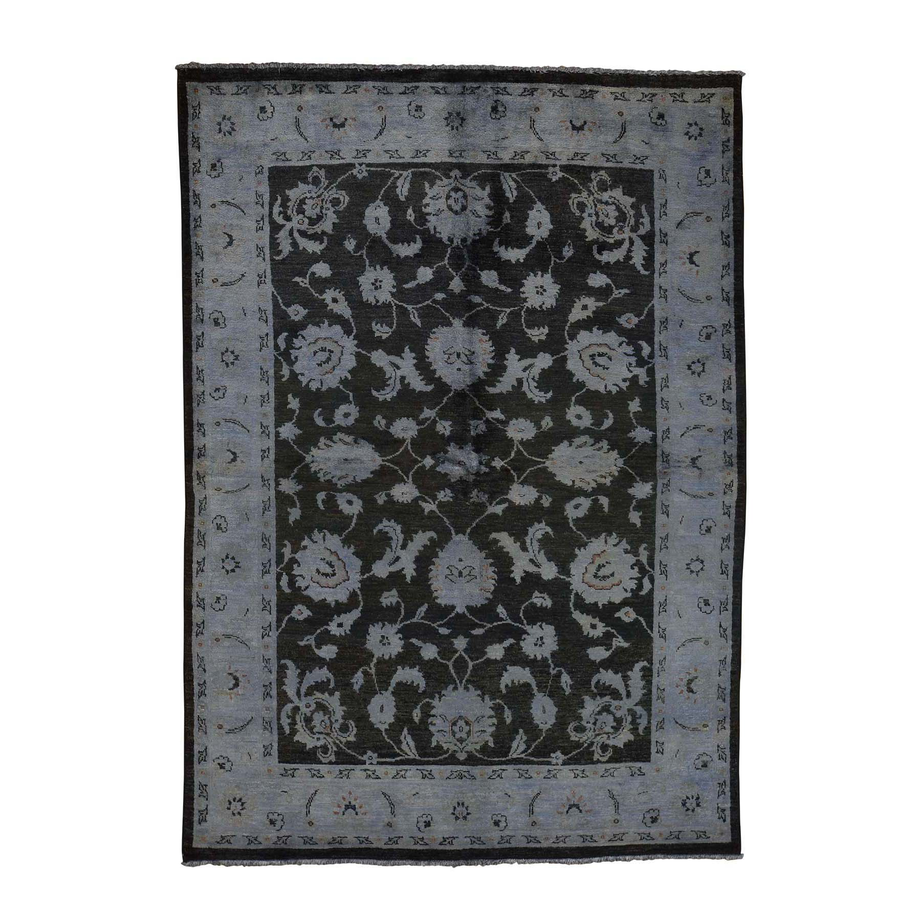5'X7' Overdyed Peshawar Hand Knotted Pure Wool Oriental Rug moac9eaa