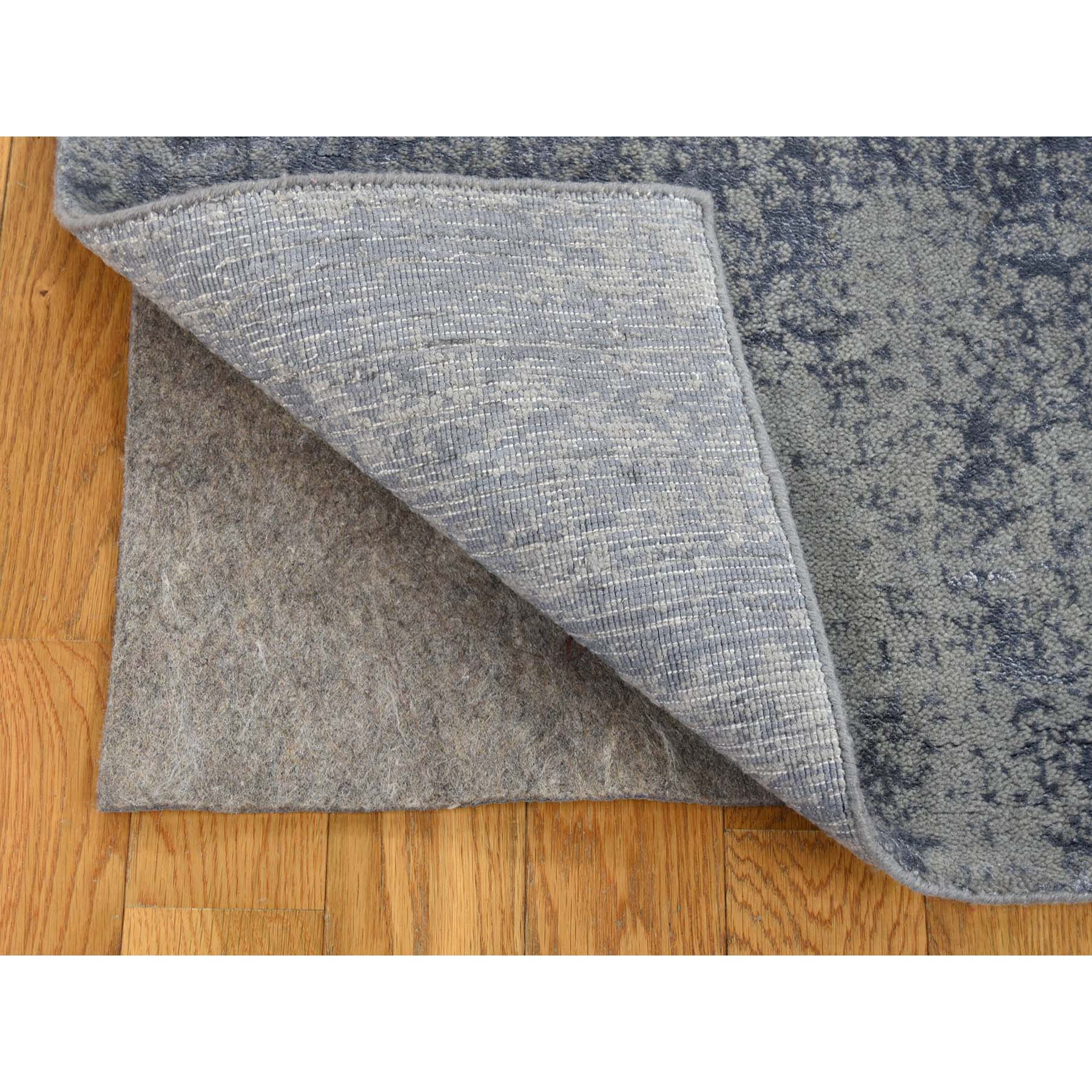 2-x3- Abstract Design Tone on Tone Wool and Silk Hand-Loomed Oriental Rug
