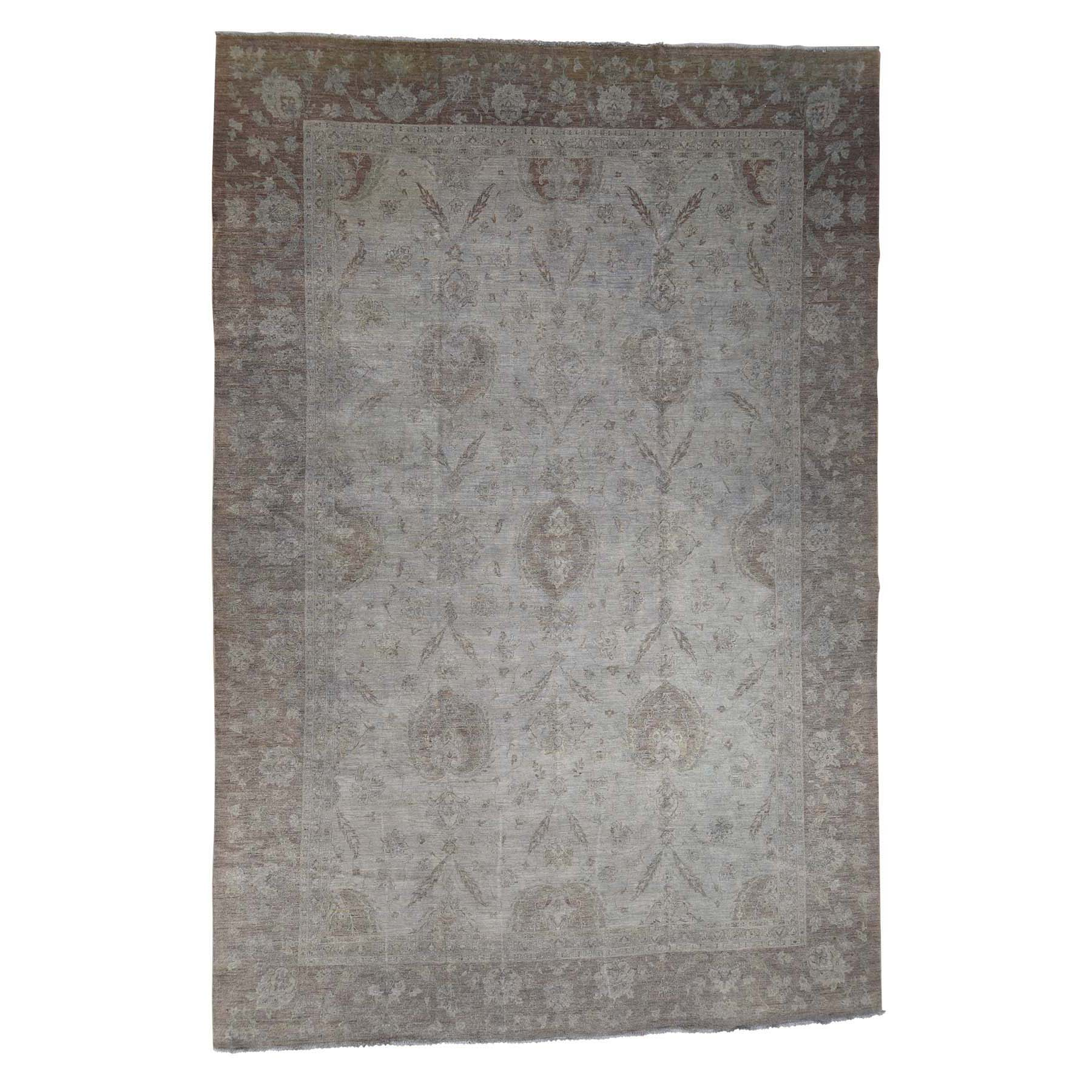 "11'10""X17'5"" Peshawar Silver Wash Oversize Hand-Knotted Oriental Rug moac97d7"
