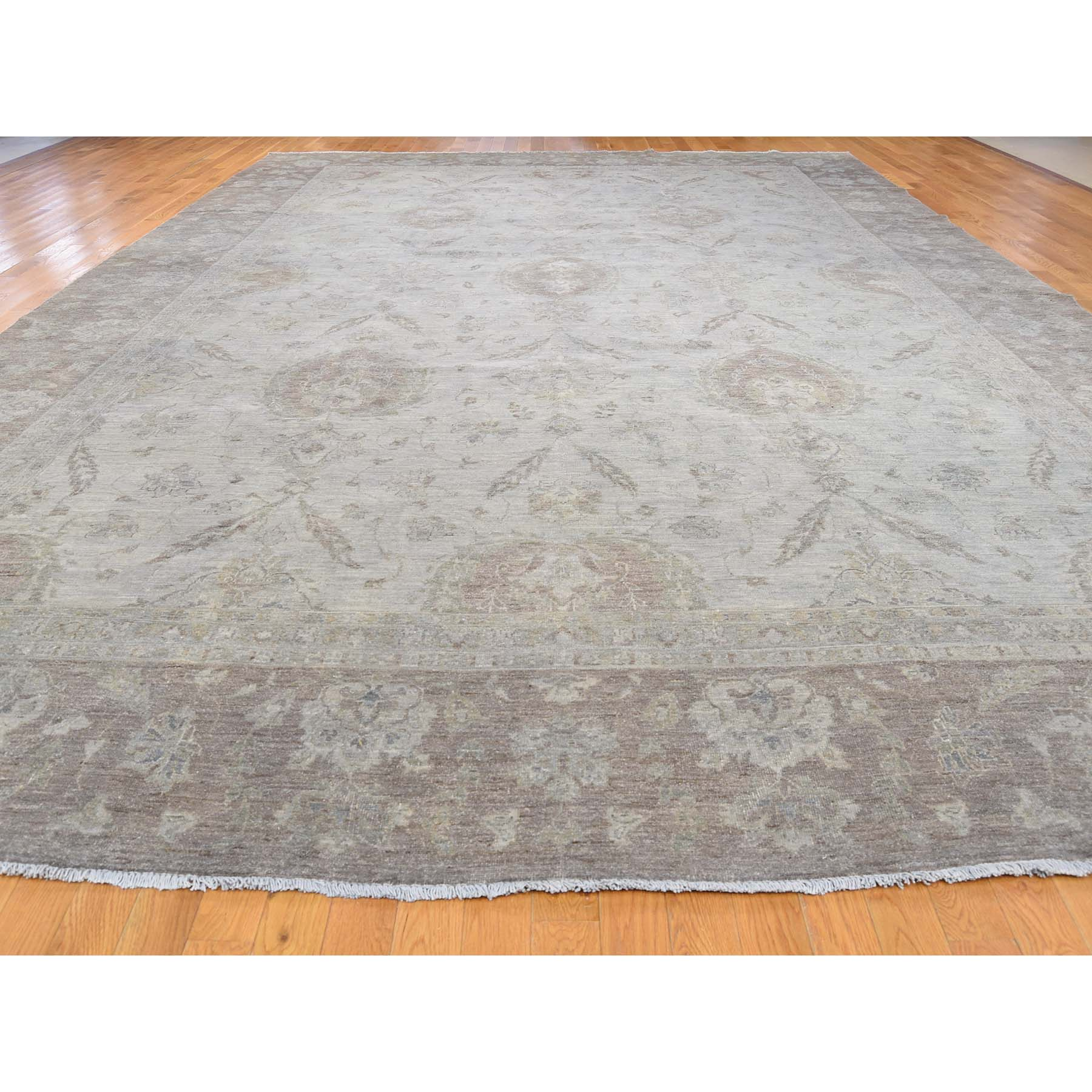 11-10 x17-5  Peshawar Silver Wash Oversize Hand-Knotted Oriental Rug