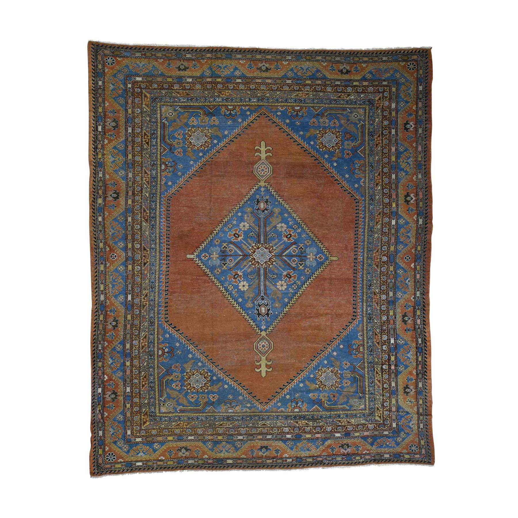 "9'6""X11'9"" Antique Samarkand With Bakshaish Design Oriental Rug moac97e0"