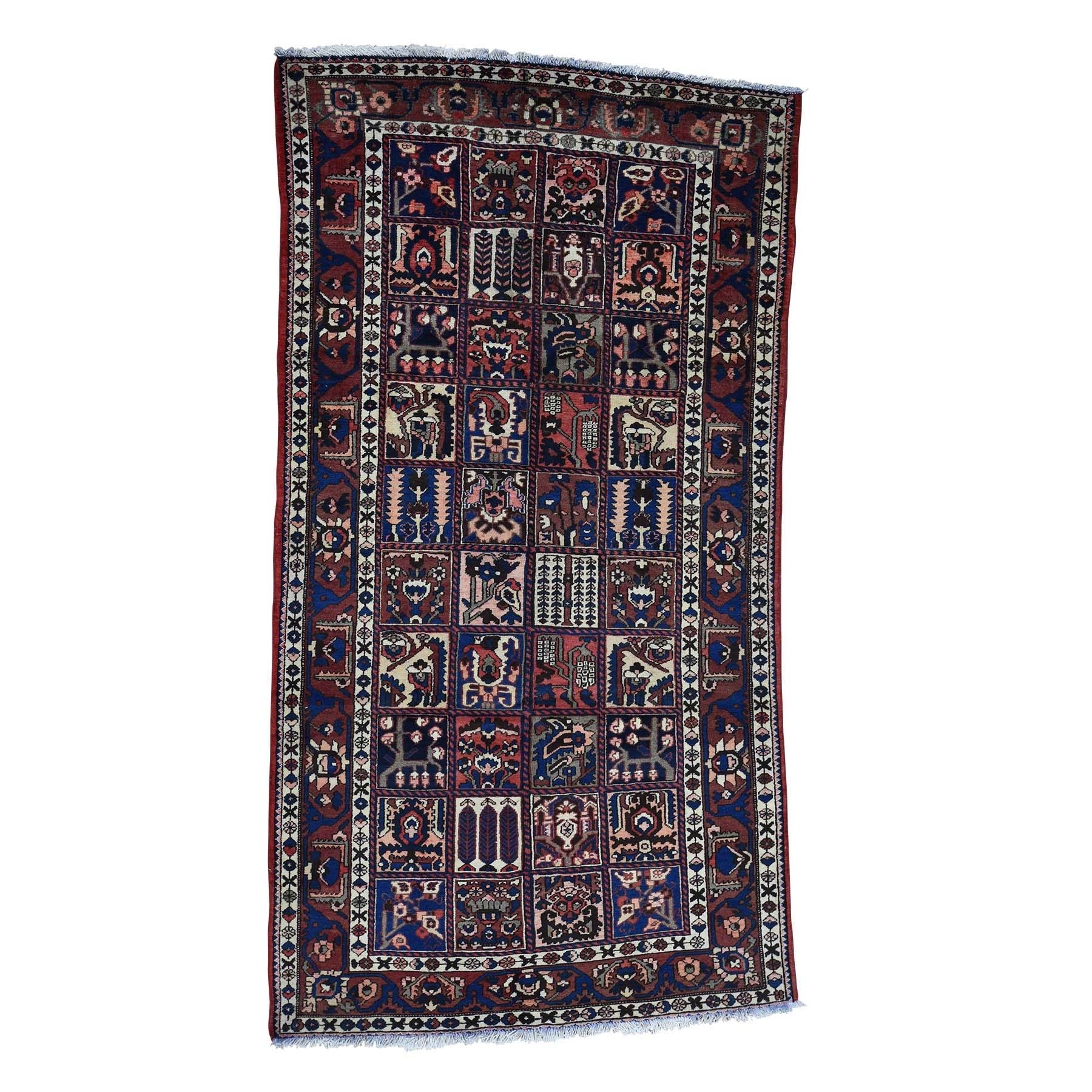 """5'5""""X9'5"""" Garden Design Semi Antique Persian Bakhtiari Oriental Wide Runner Rug moac97ee"""