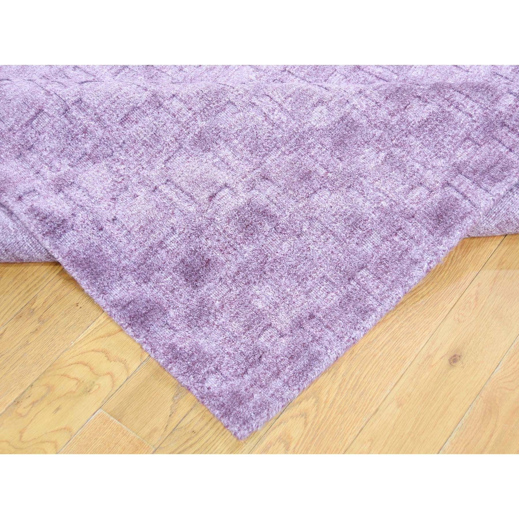 9-1-x12- Pure Wool Hand-Loomed Tone on Tone Ultra Violet Oriental Rug
