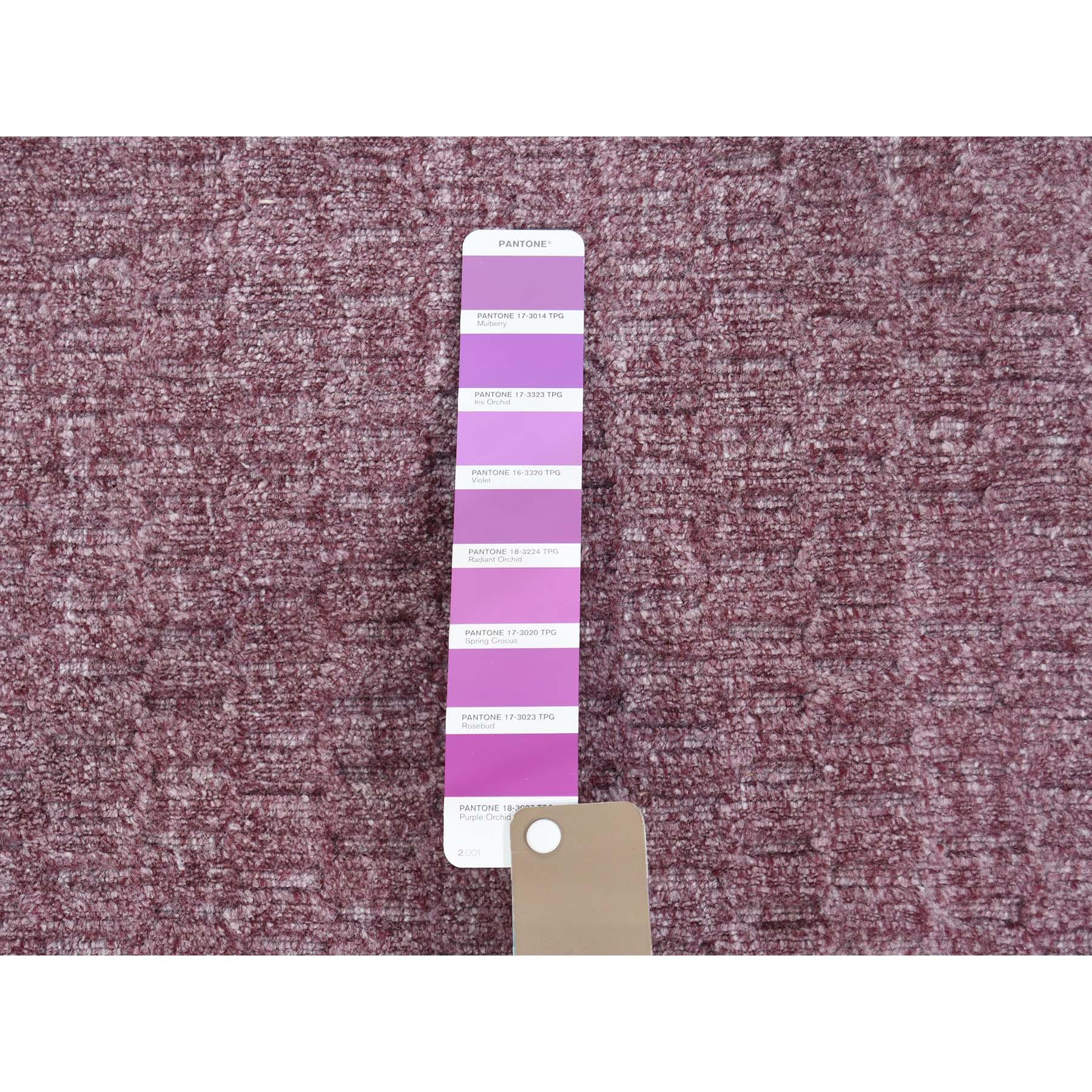 9-1 x12- Hand-Loomed Tone on Tone Pure Wool Oriental Rug