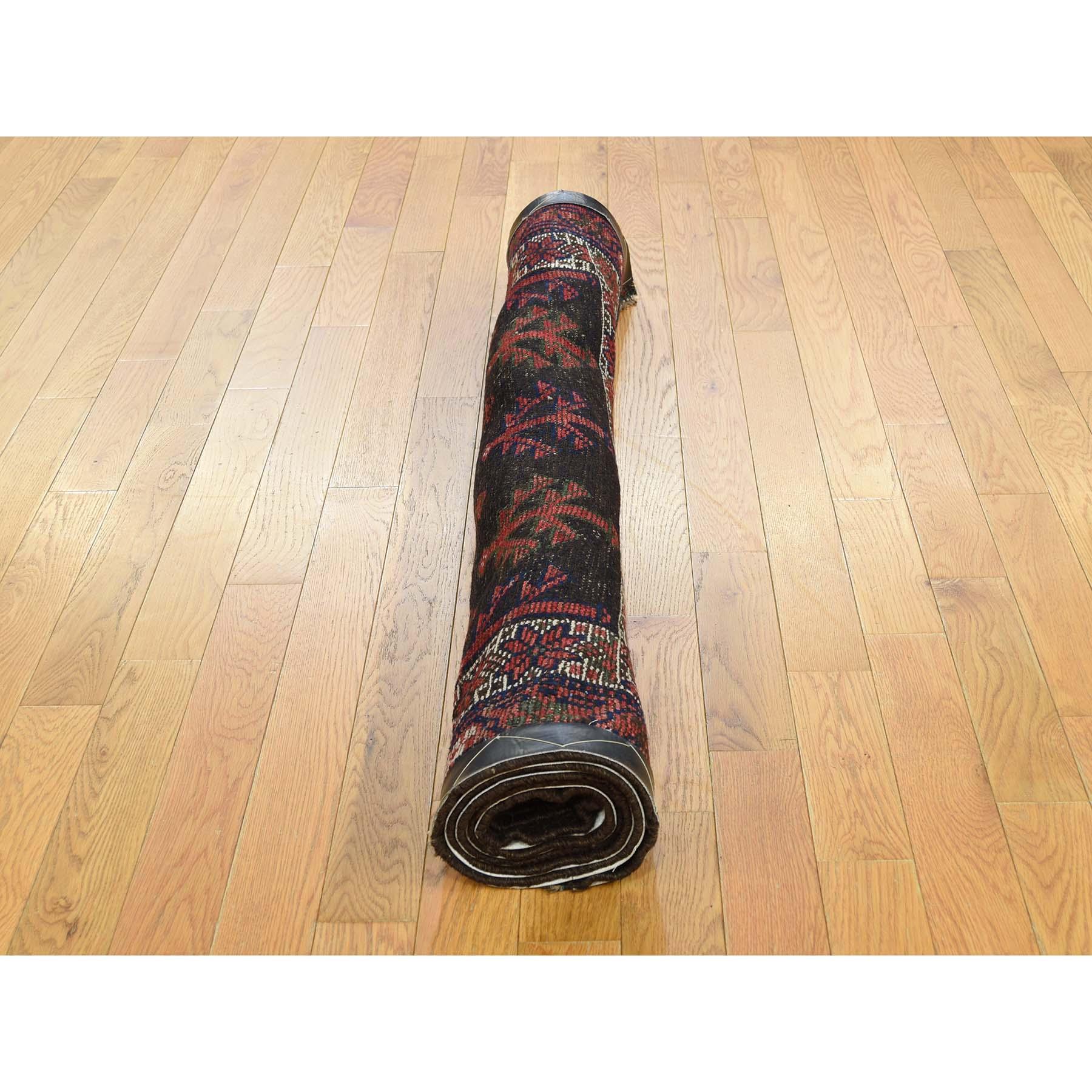 3-10 x8-5  Vintage Shiraz Exc Cond Pure Wool Handmade Runner Oriental