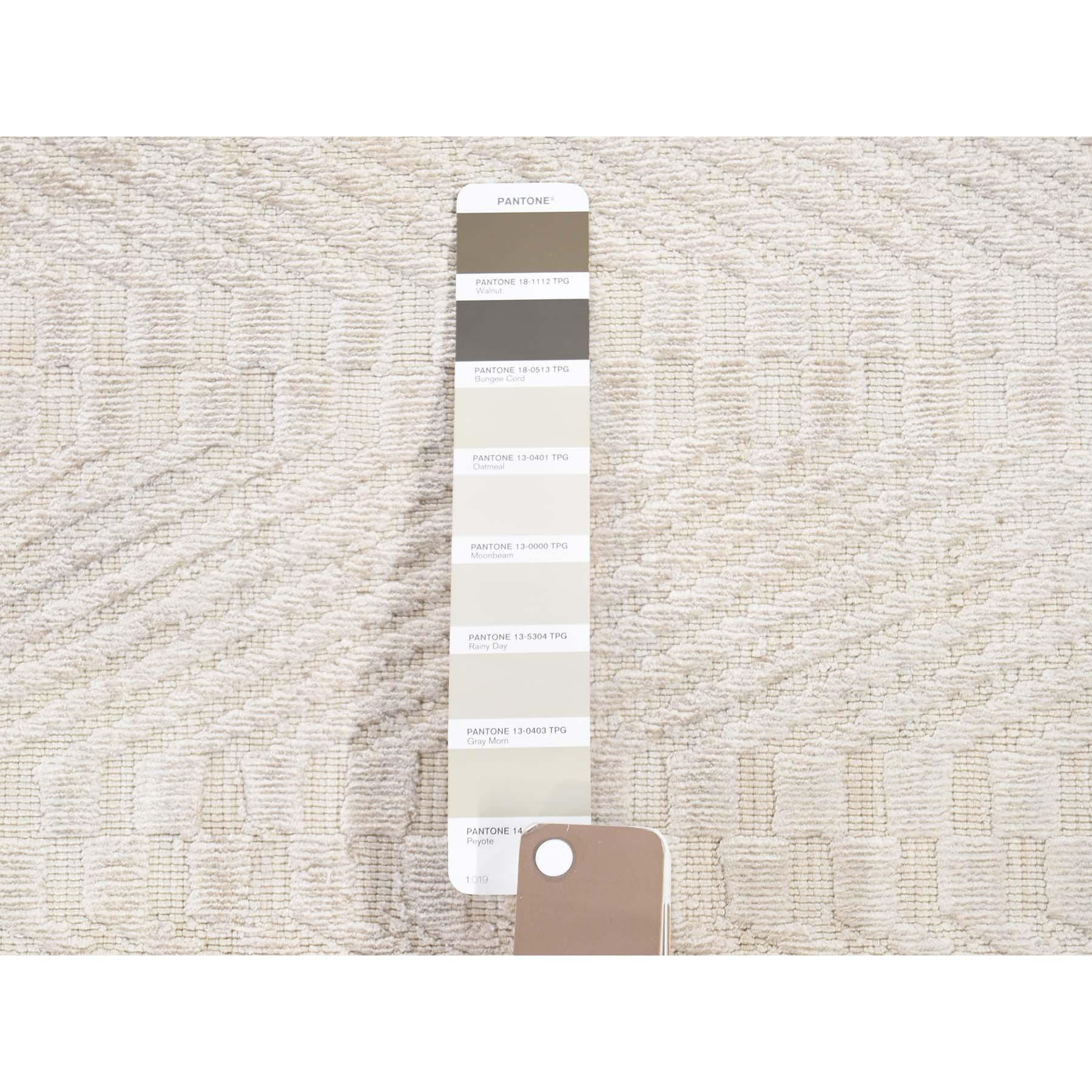 8-9 x11-10  Hand-Loomed Art Silk Tone on Tone Oriental Rug