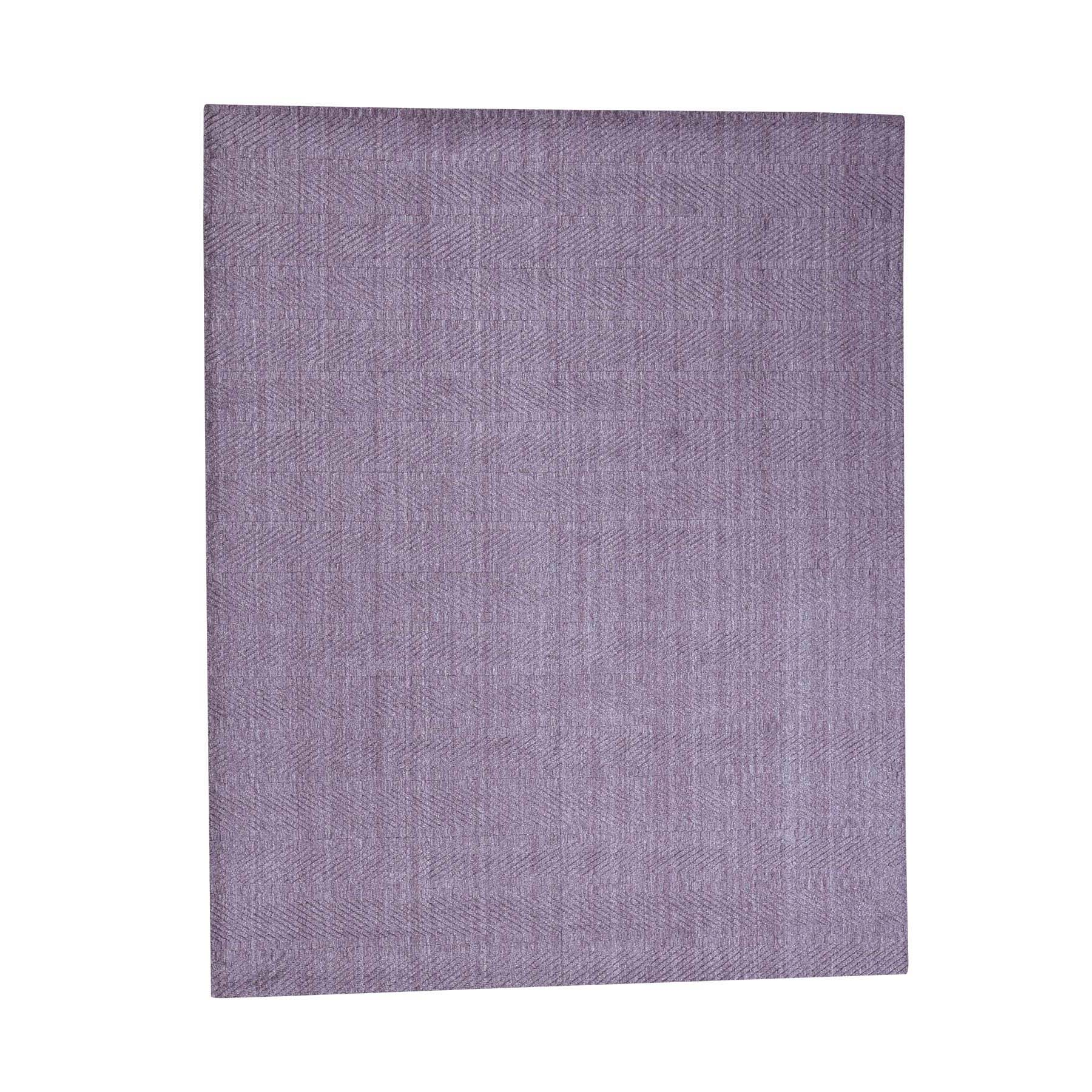 8'X10' Tone On Tone Purple Hand-Loomed Pure Wool Oriental Rug moac98a0
