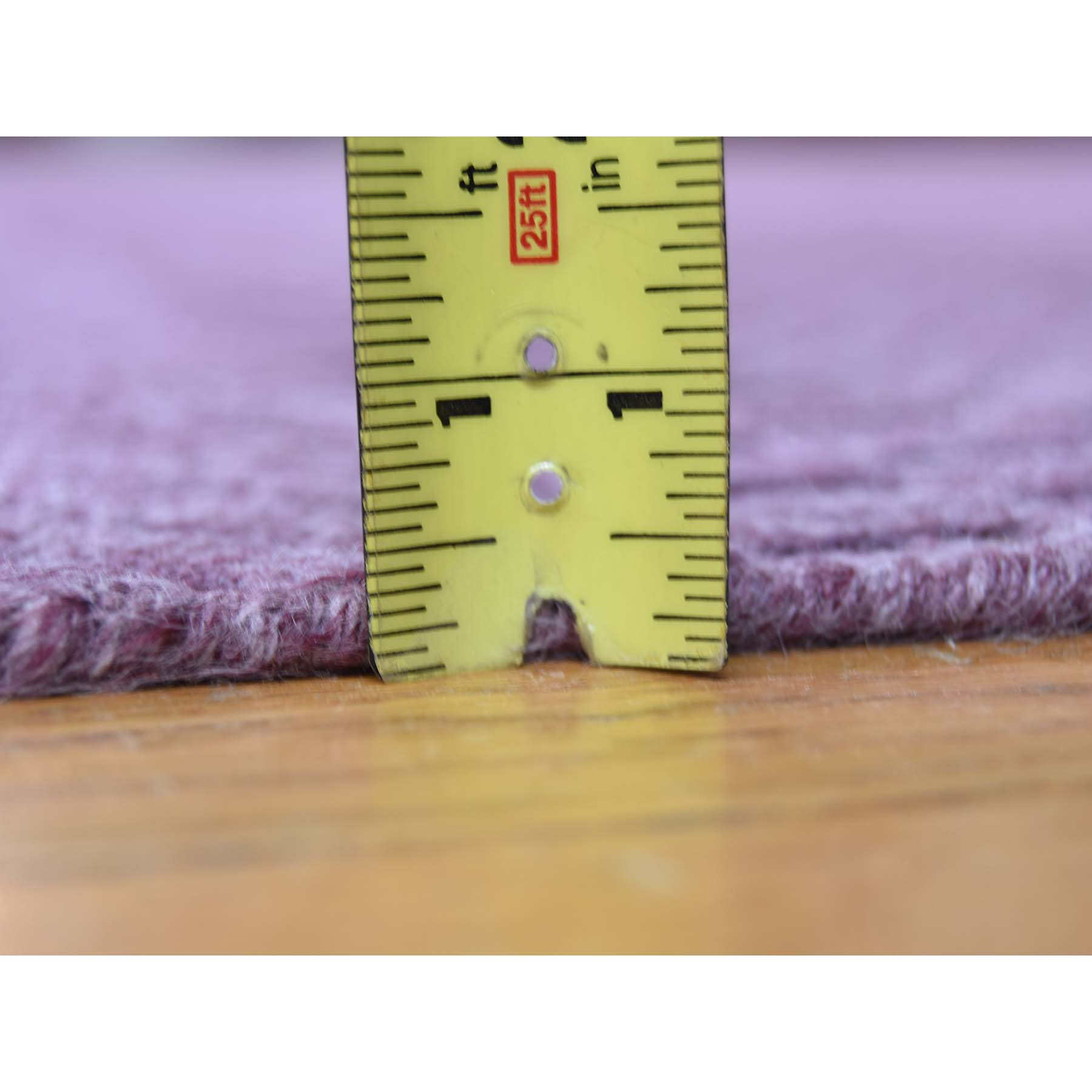 8-x10- Tone on Tone Purple Hand-Loomed Pure Wool Oriental Rug