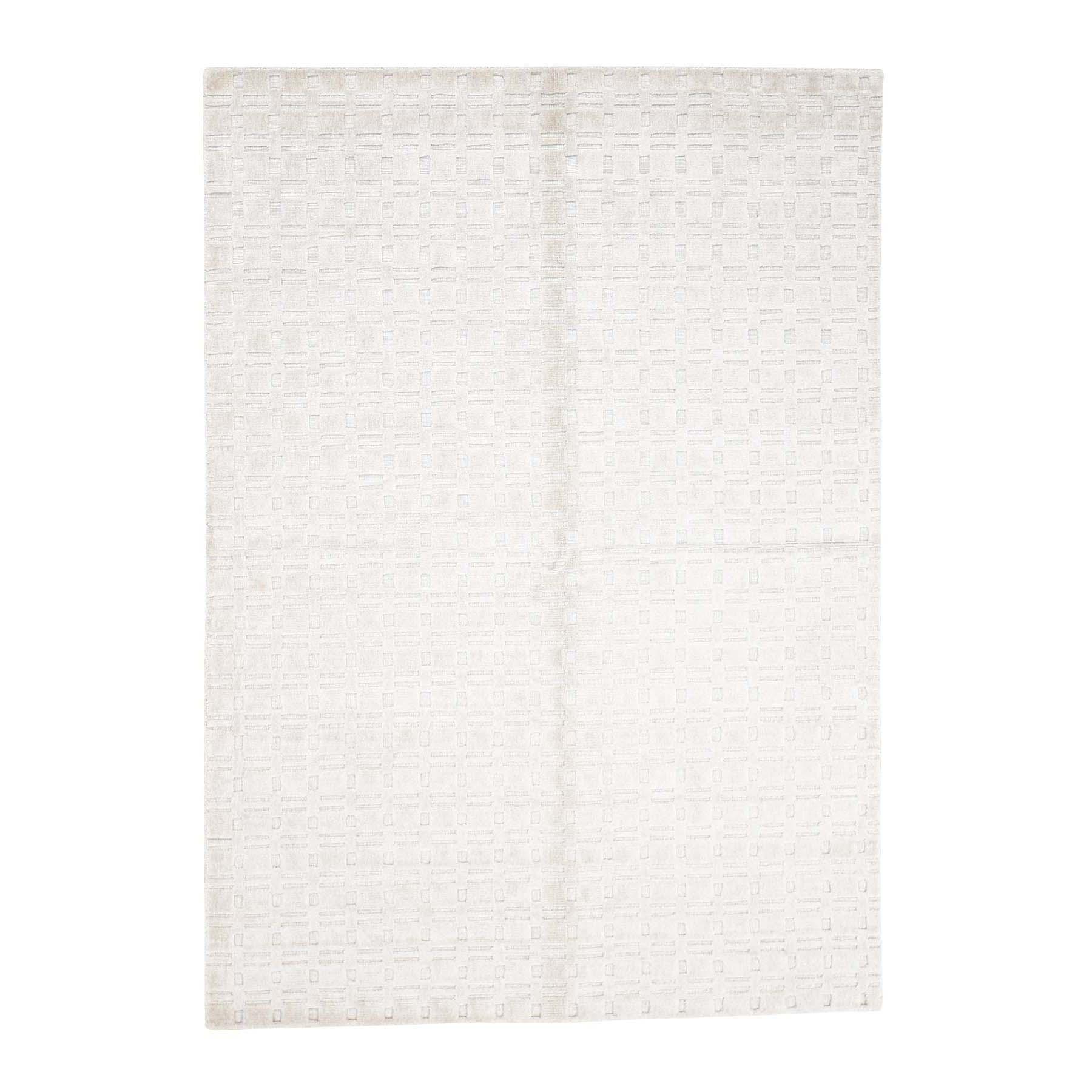 "5'1""X7'1"" Hand-Loomed Pure Wool Tone On Tone Oriental Rug moac98b6"