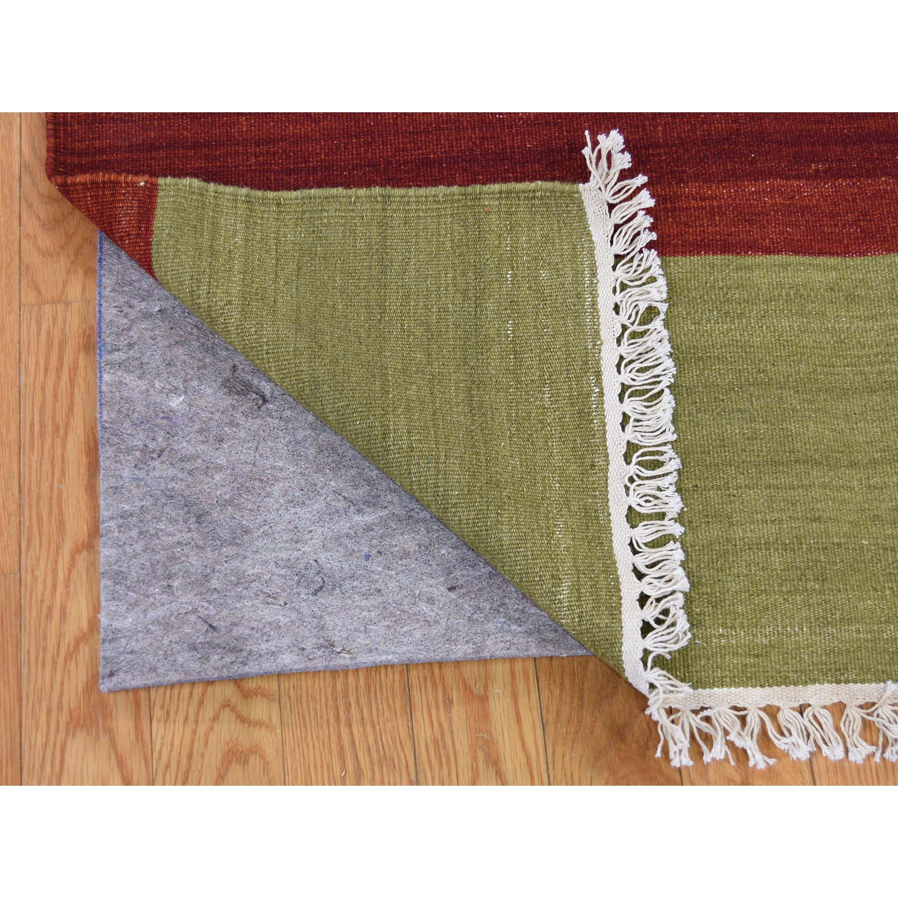 9-x12-3  Hand Woven Flat Weave Dazzle Design Durie Kilim Reversible Rug