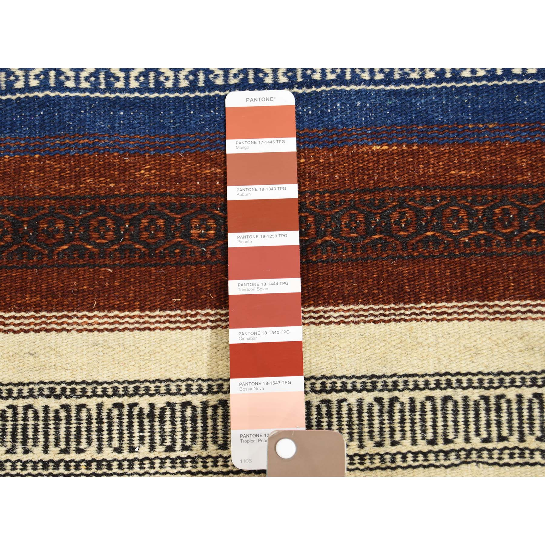 3-x5-2  Reversible Hand Woven Durie Kilim 100 Percent Wool Oriental Rug