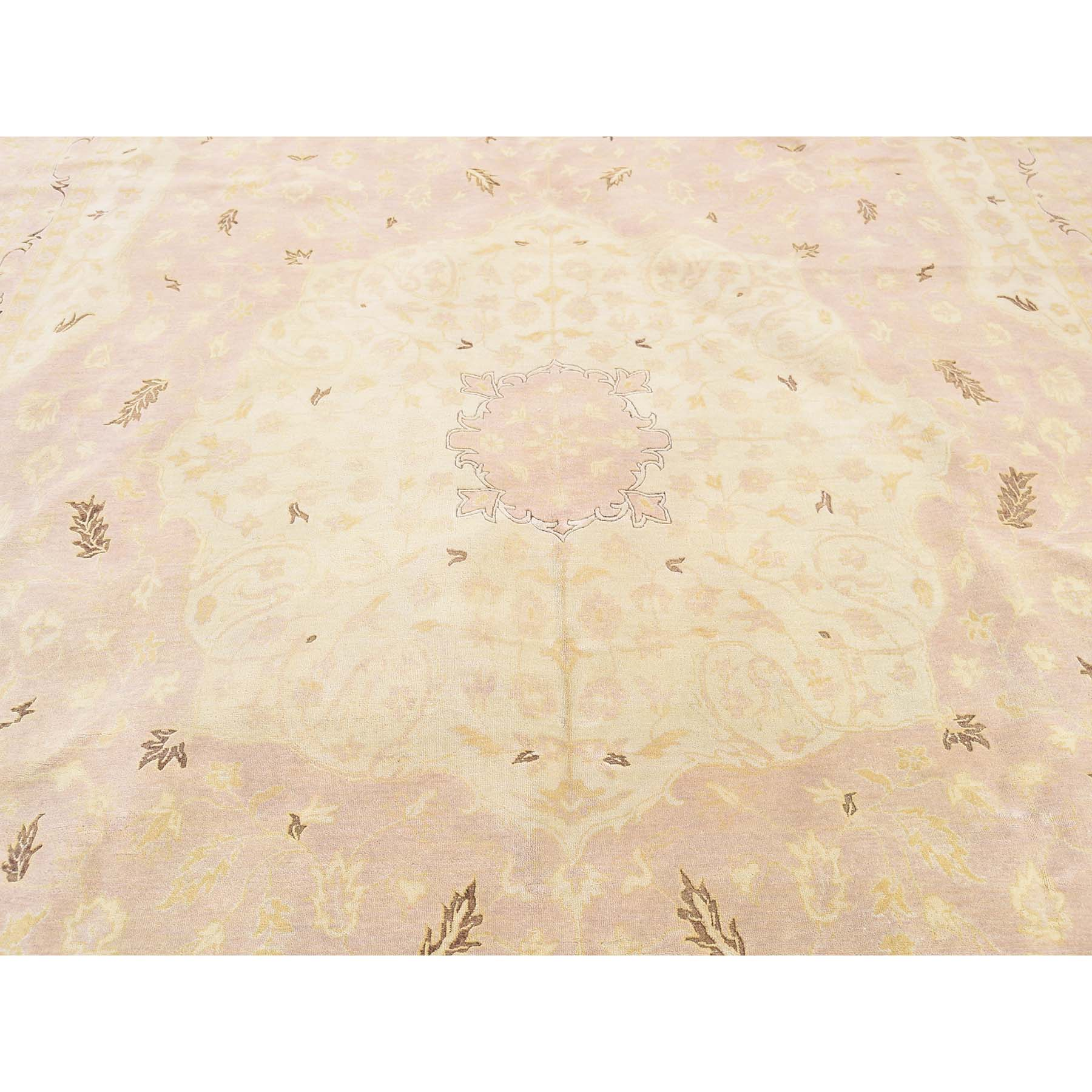 9-x12-9  Dense Weave Washed Tabriz 100 Percent Wool Hand-Knotted Oriental Rug