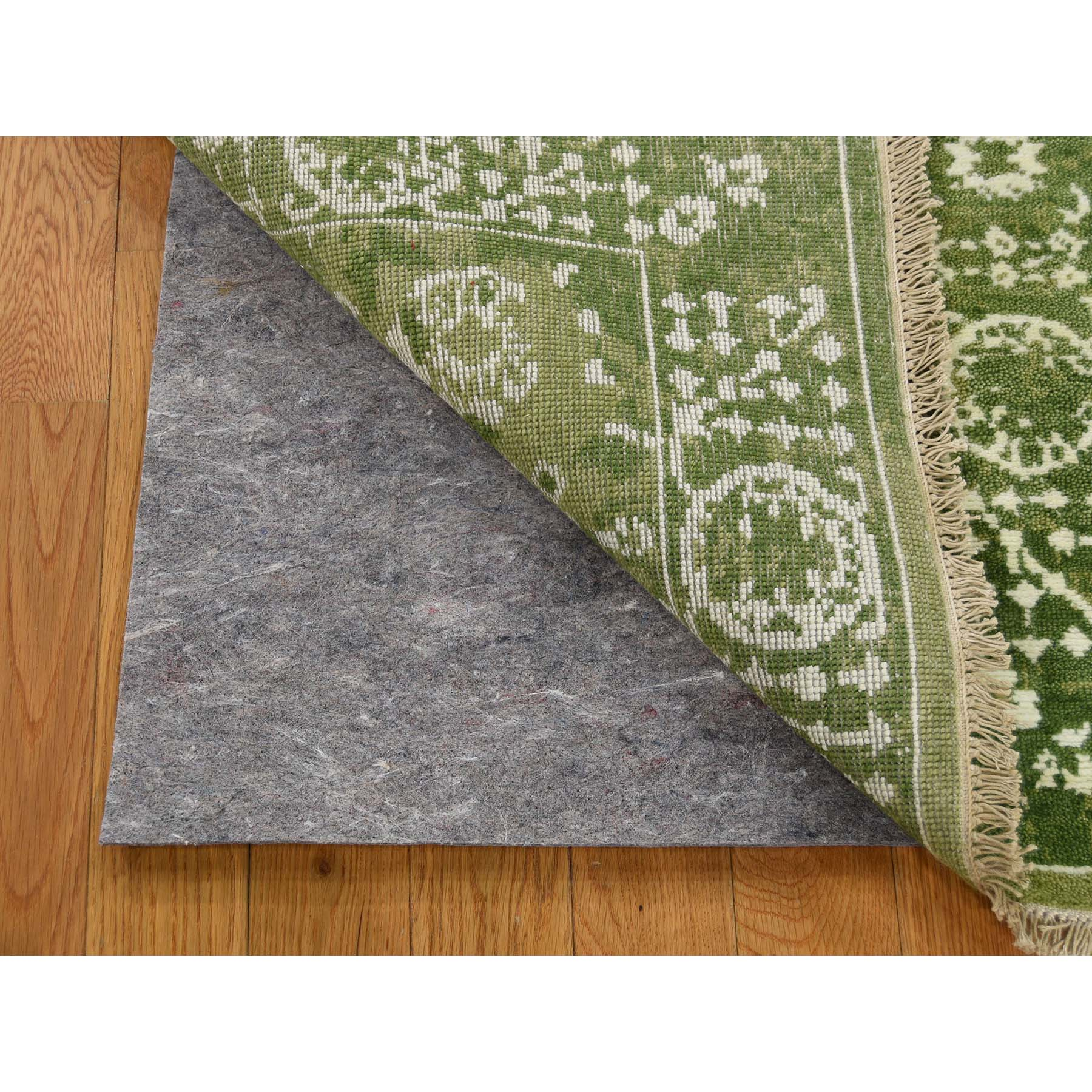 """2'1""""x3'1"""" Tabriz Wool and Silk Tone on Tone Hand-Knotted Oriental Rug"""