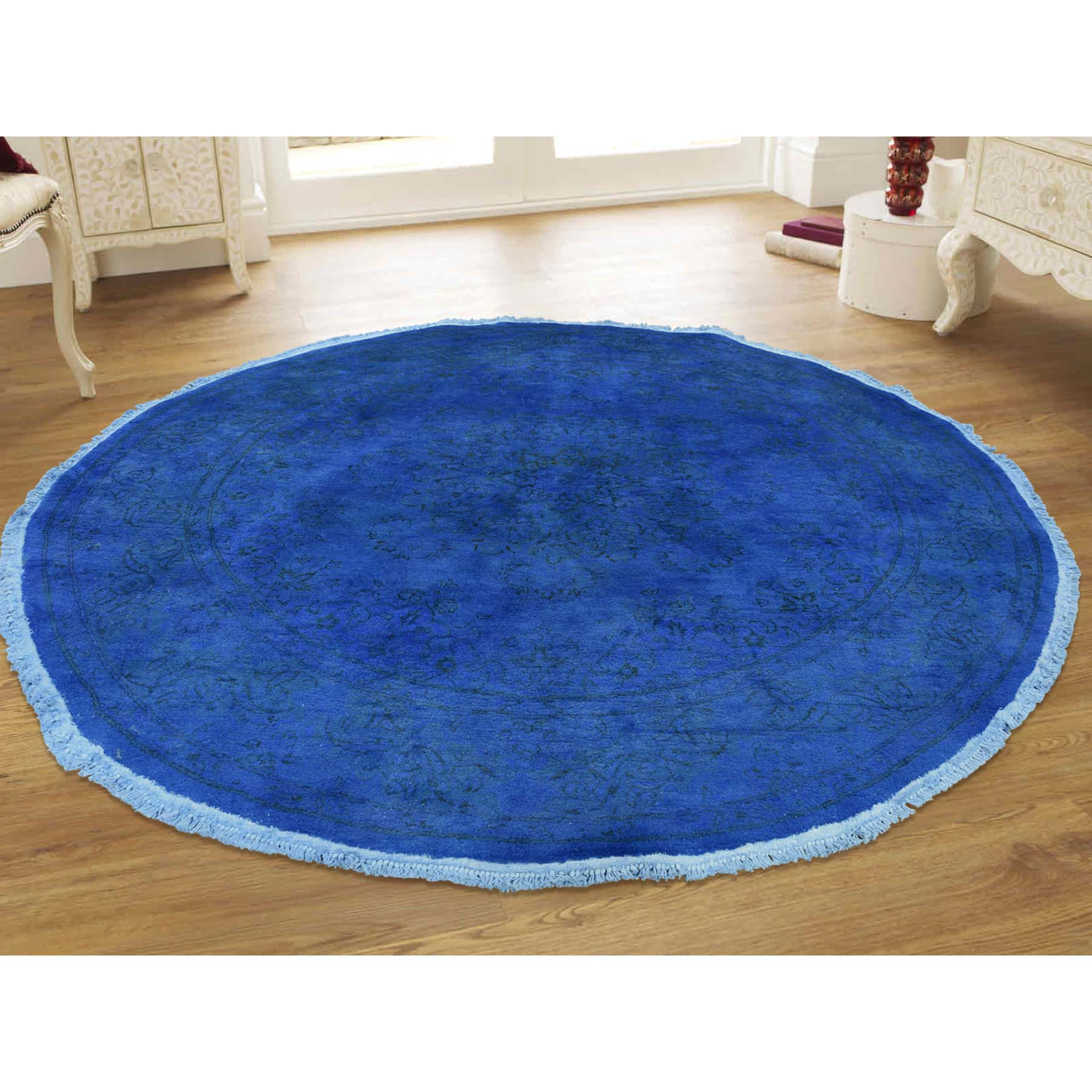 6-1 x6-1  Round Overdyed Pak Persian Hand-Knotted Oriental Rug