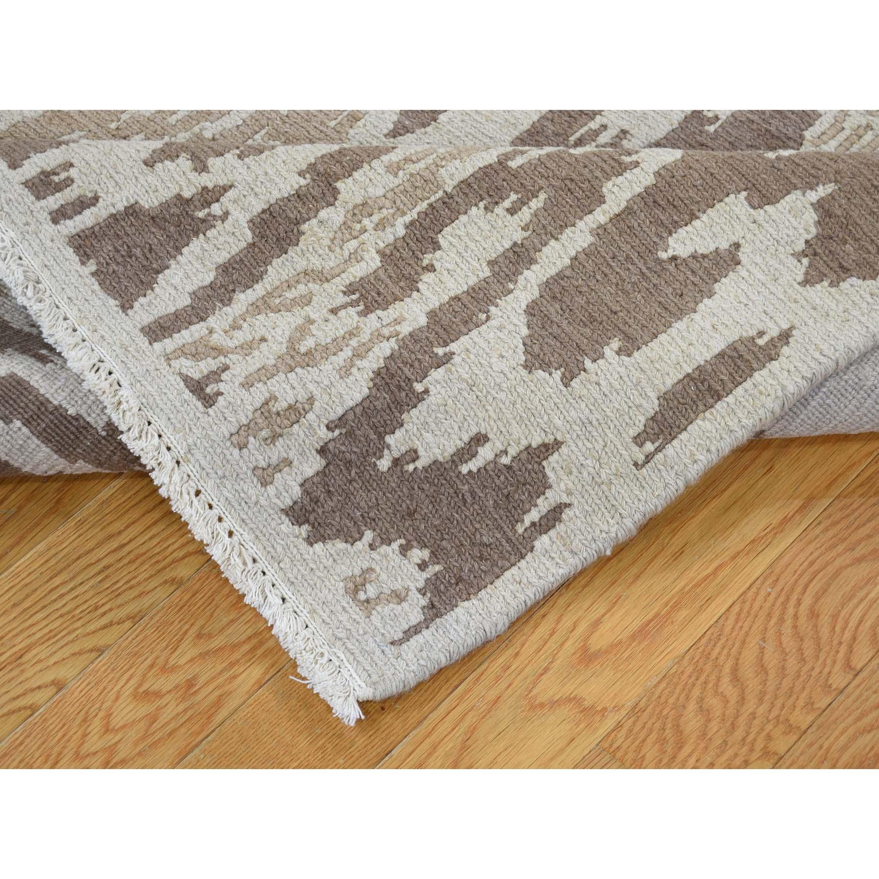5-x6-9  Soumak with Ikat Design Flat Weave Hand Woven Pure Wool Oriental Rug