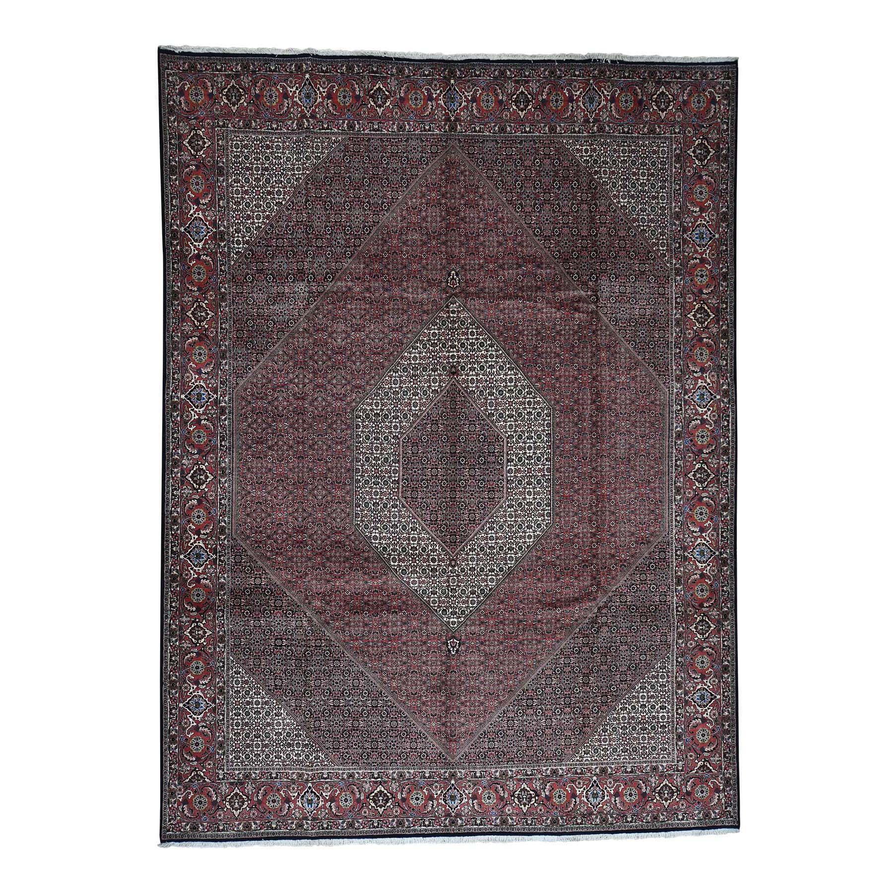 """10'X13'2"""" New Persian Bijar 300 Kpsi 100 Percent Wool Hand-Knotted Oriental Rug moad007c"""