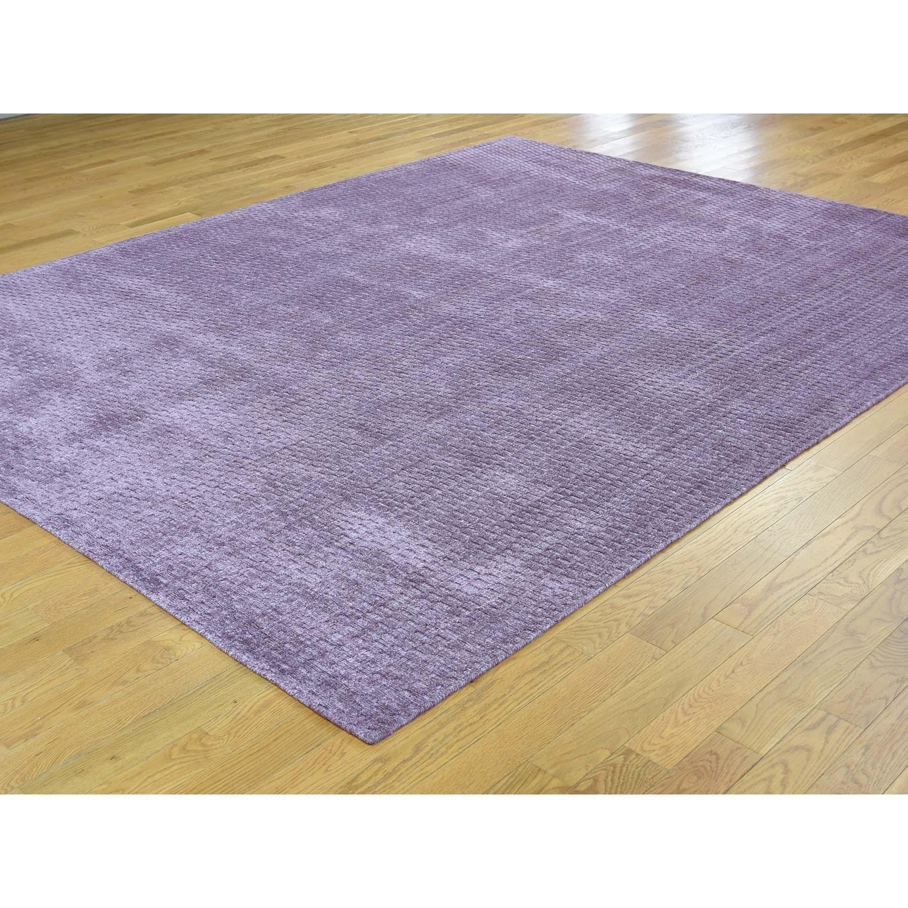 8-x10-1  Hand Loomed Pure Wool Tone on Tone Oriental Rug