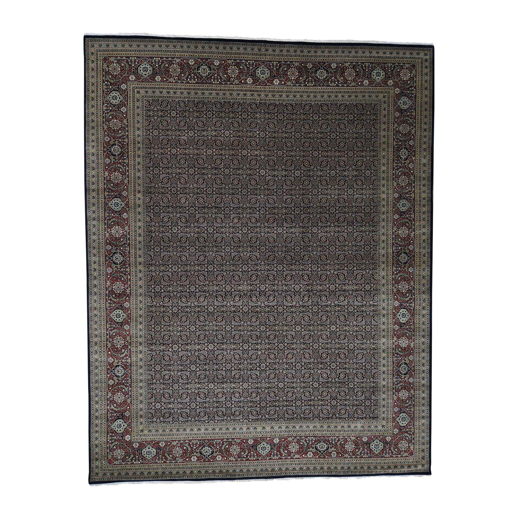 "11'10""X15' Hand-Knotted Herati All Over Design Pure Wool Oversize Oriental Rug moad009c"