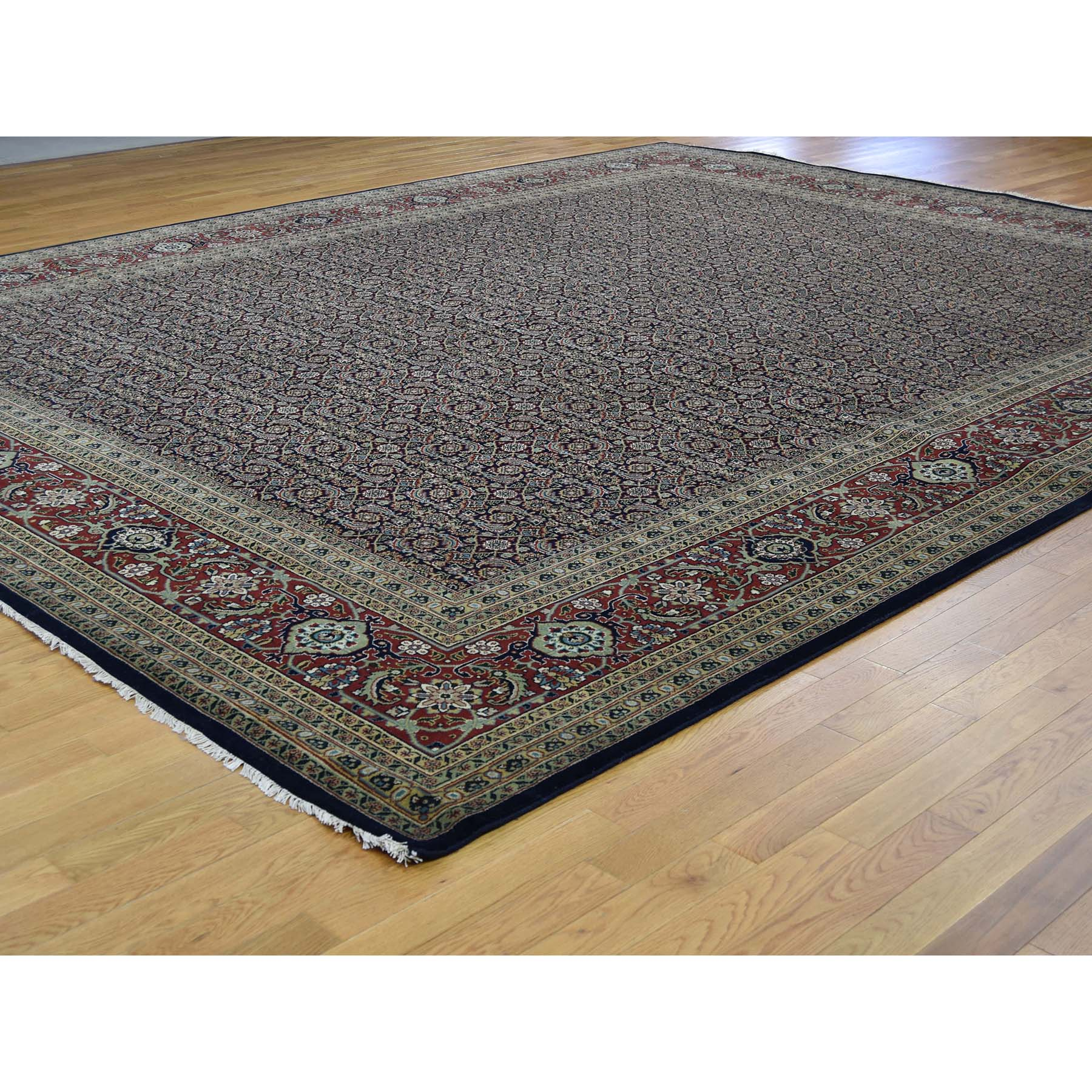 11-10 x15- Hand-Knotted Herati All Over Design Pure Wool Oversize Oriental Rug