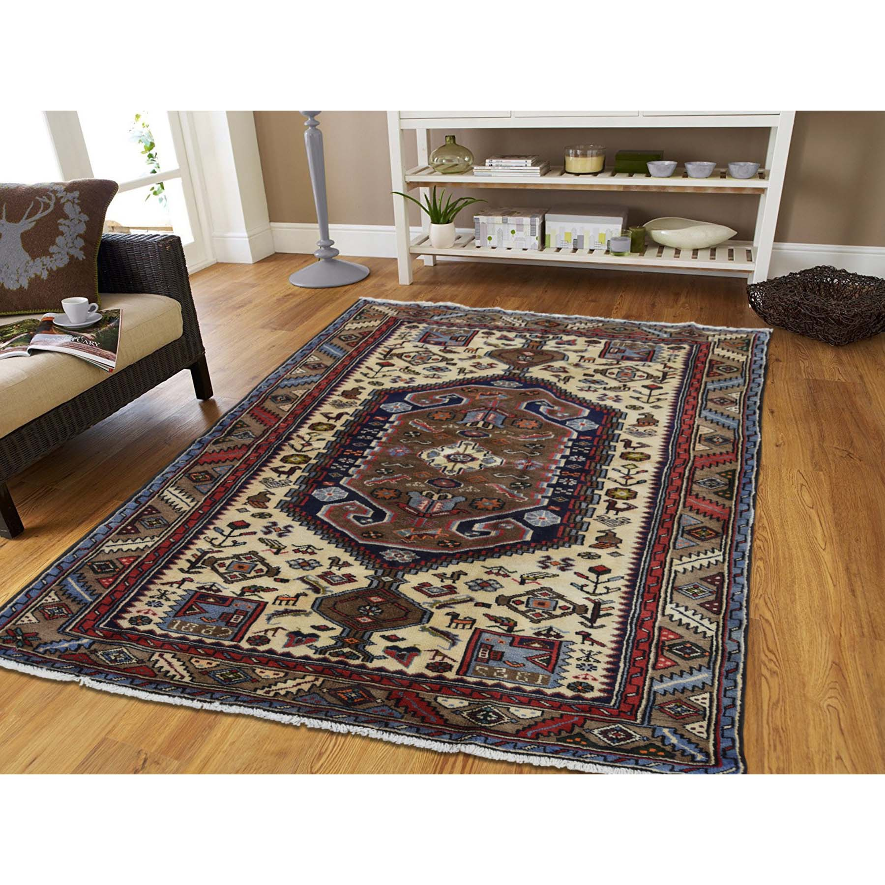 4-3 x6-8  New Persian Mosel Pure Wool Hand-Knotted Oriental Rug