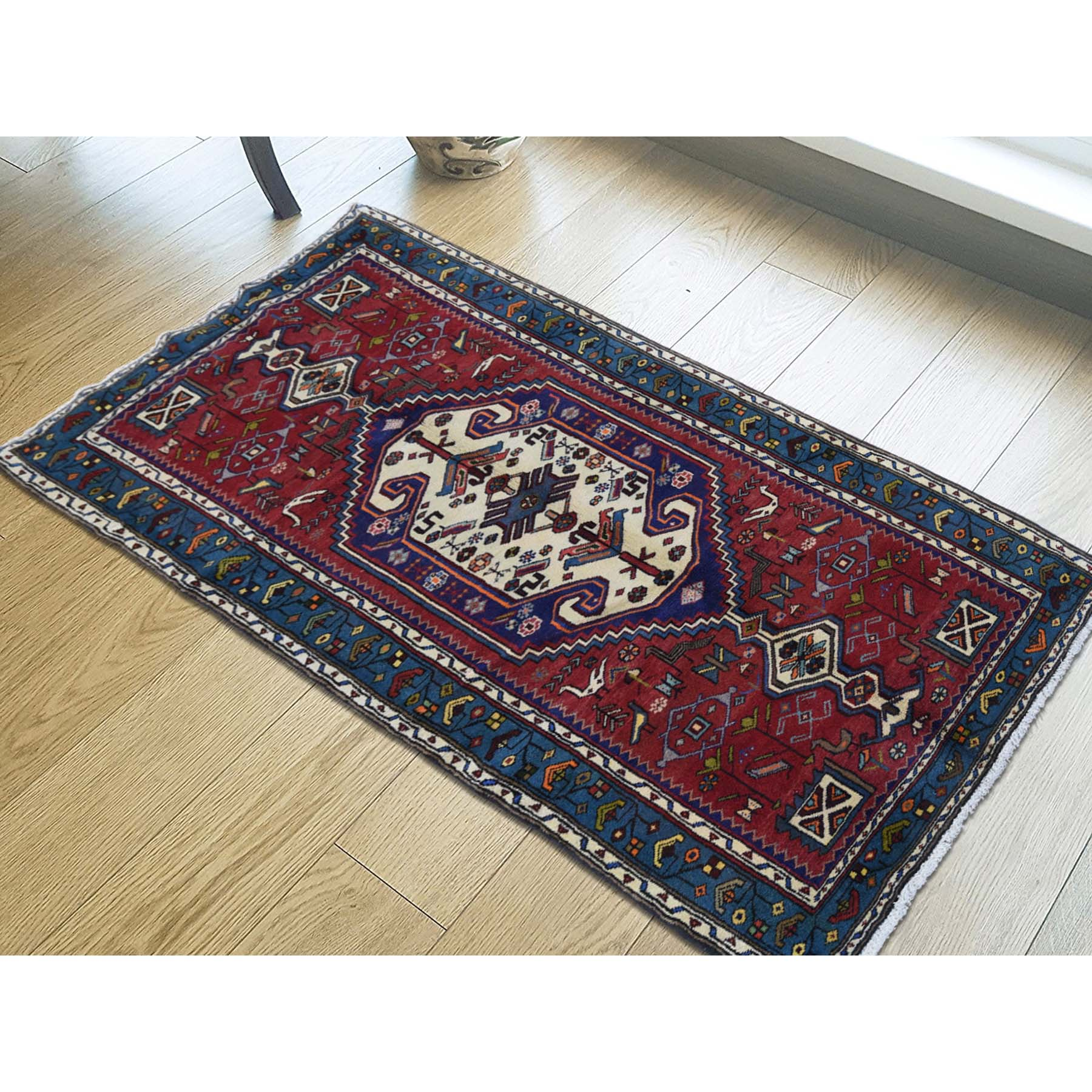 3-4 x6-8  Pure Wool Hand-Knotted New Persian Mosel Runner Oriental Rug