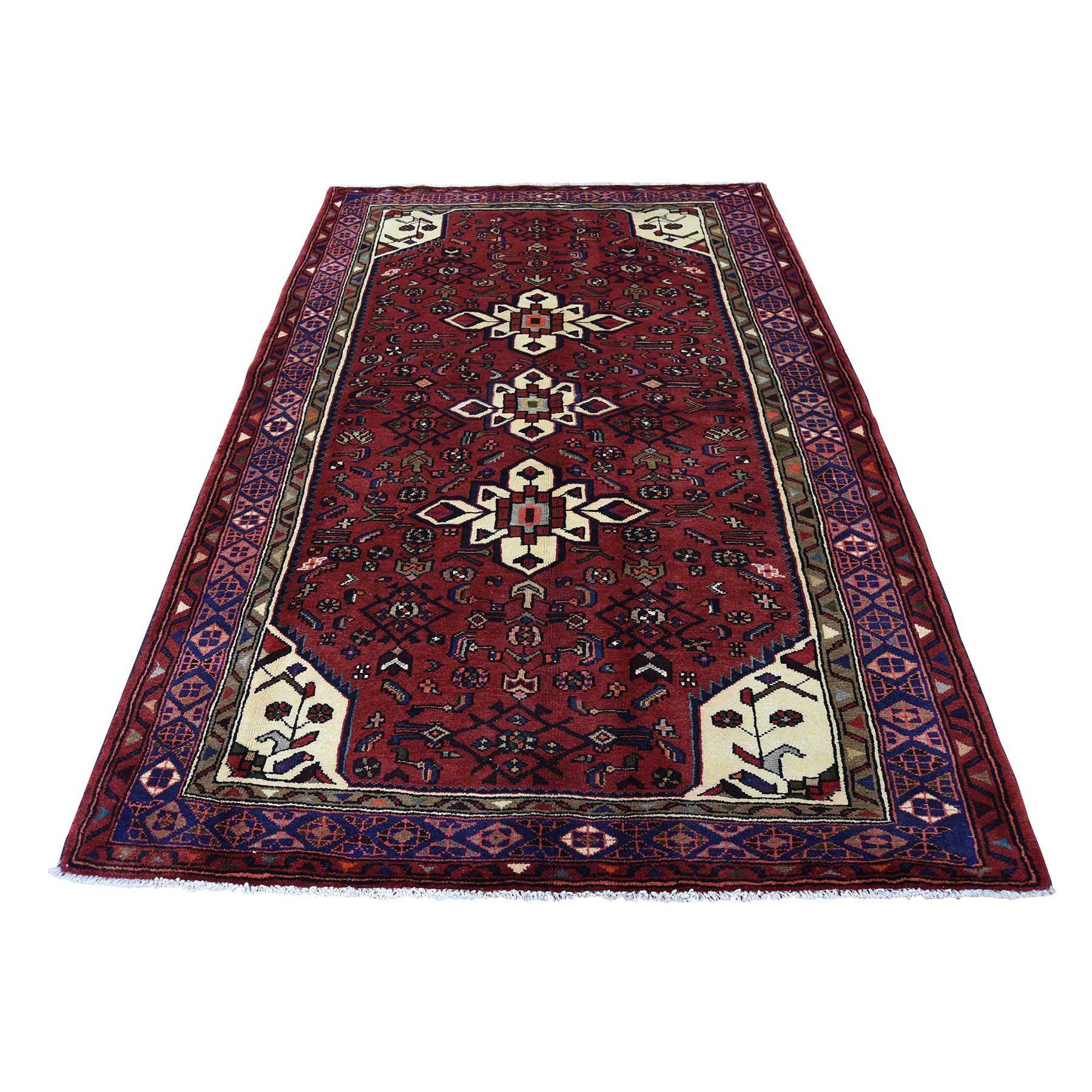 4-5 x6-9  Pure Wool Hand-Knotted New Persian Mosel Oriental Rug