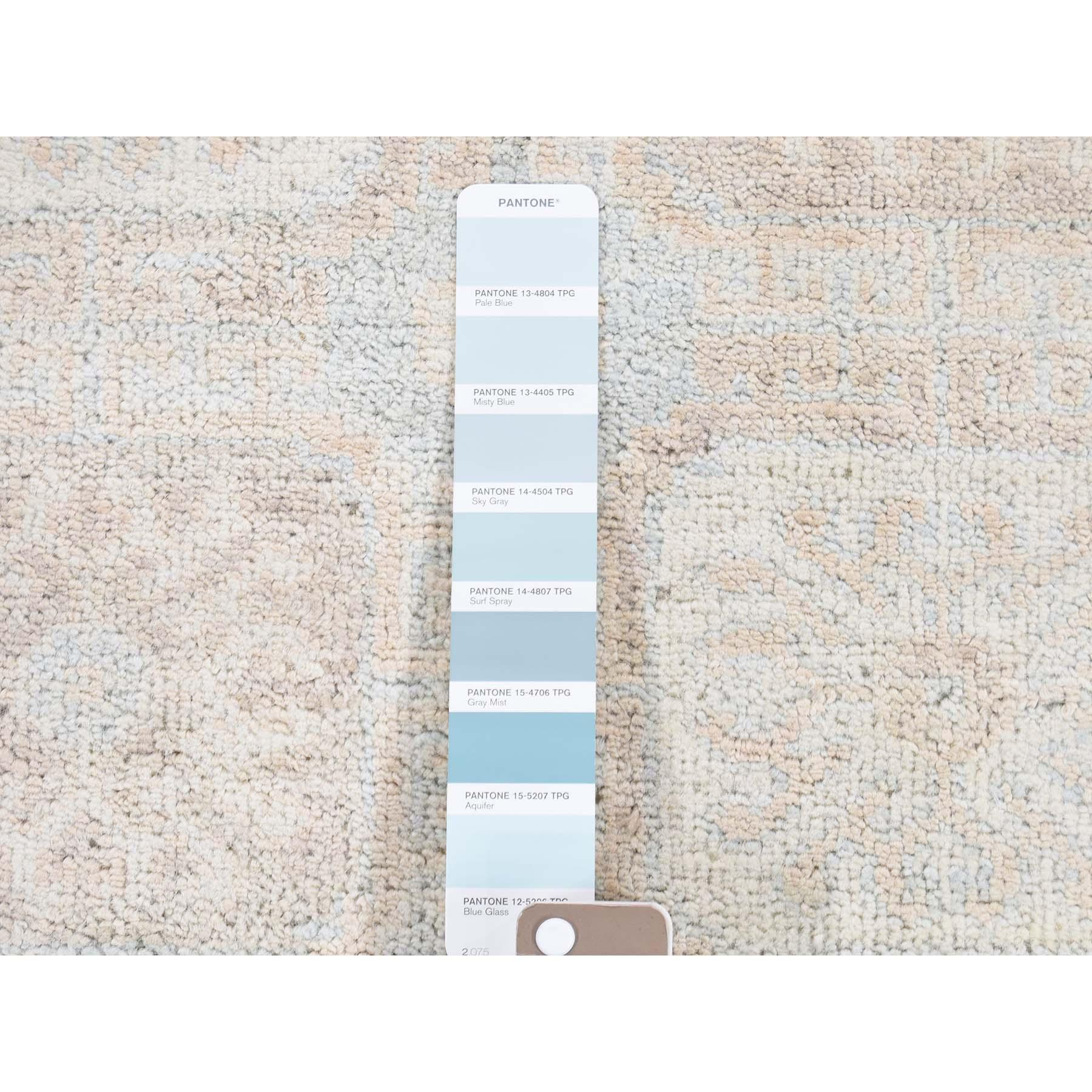 6-1 x8-10  Khotan White Wash 100 Percent Wool Hand-Knotted Oriental Rug
