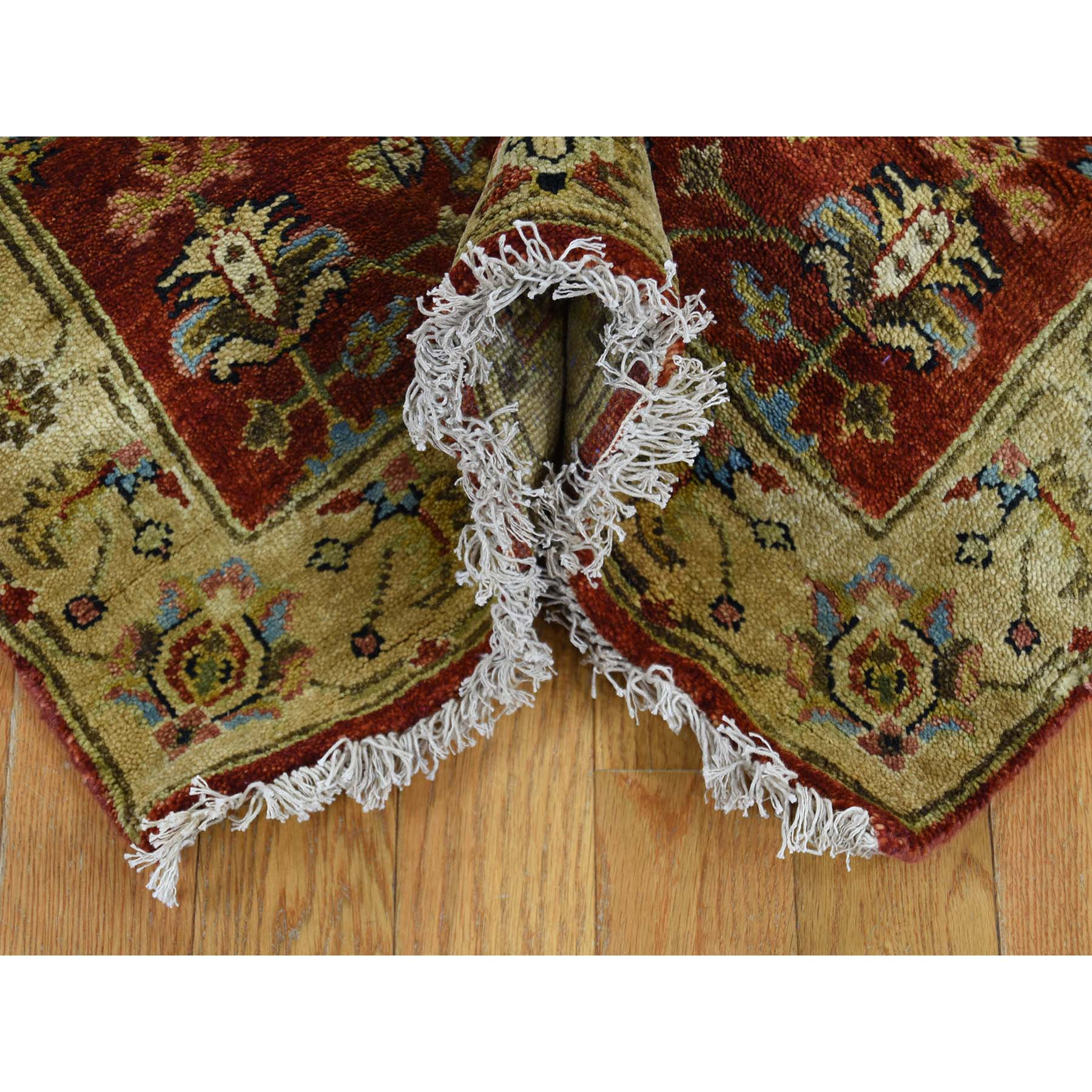 2-7 x19-10  Hand-Knotted XL Runner Karajeh Pure Wool Rust Red Oriental Rug