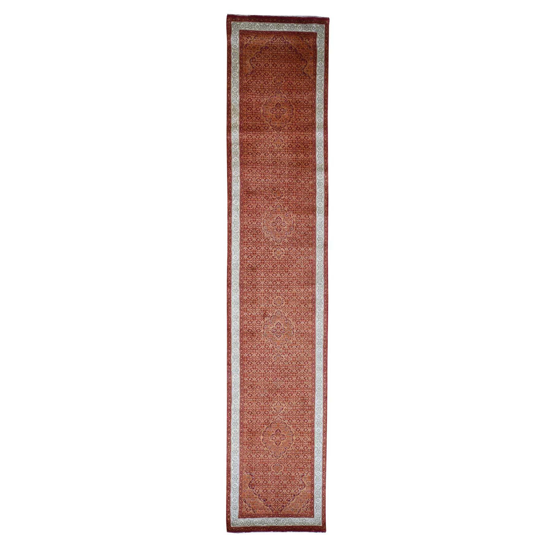 2-9 x14- Tabriz XL Runner Wool And Silk Hand Knotted Oriental Rug