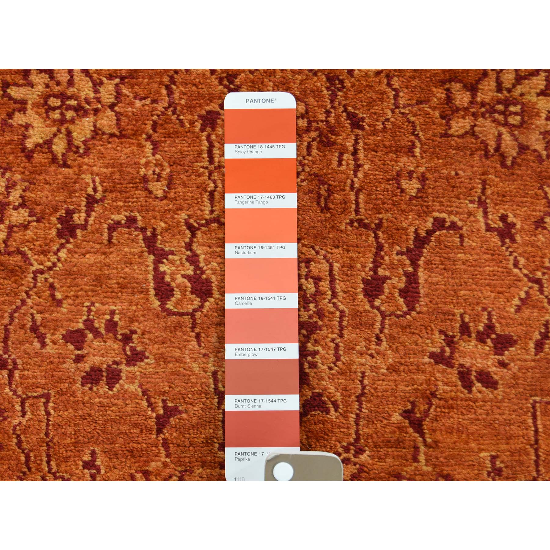 2-7 x16- Kashan Tone On Tone XL Runner Hand Knotted Oriental Rug