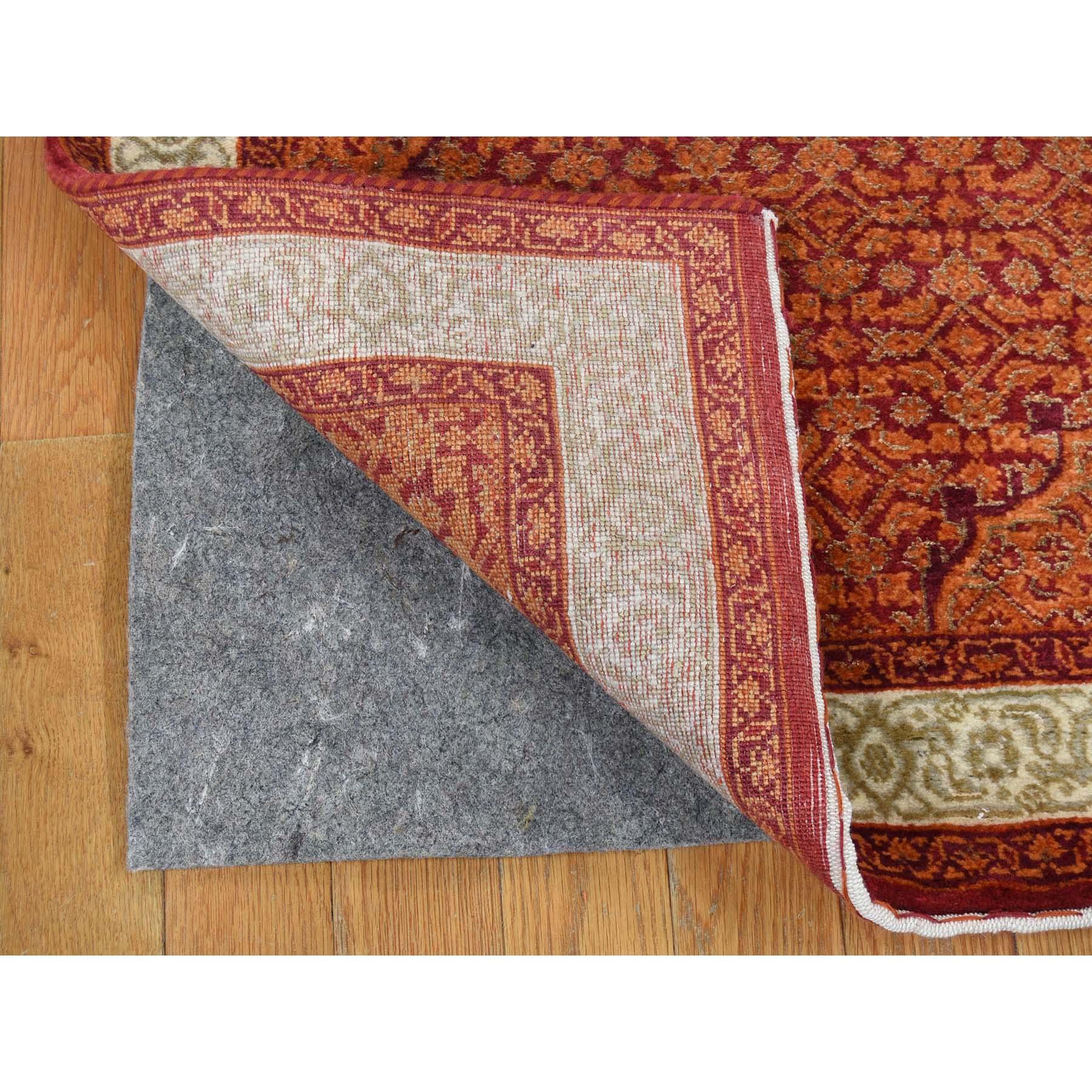 2-9 x13-10  Tabriz XL Runner Wool And Silk Hand Knotted Oriental Rug